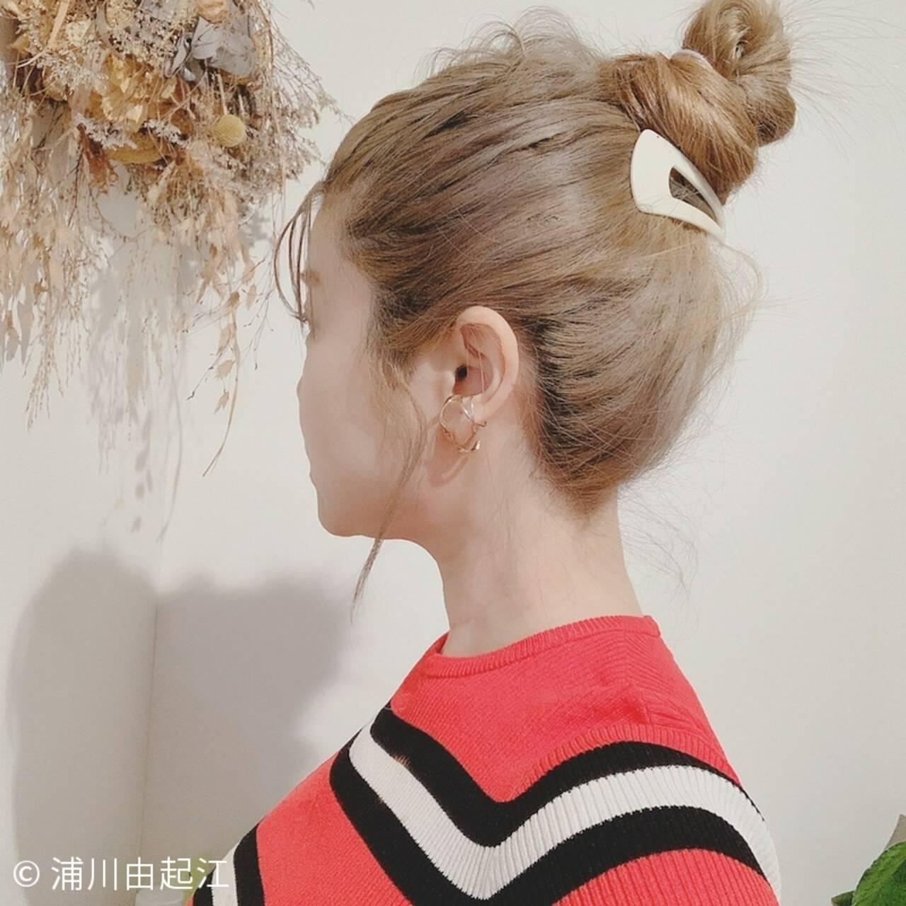 ゆるふわ ヘアアレンジ ハイライト ナチュラルヘアスタイルや髪型の写真・画像