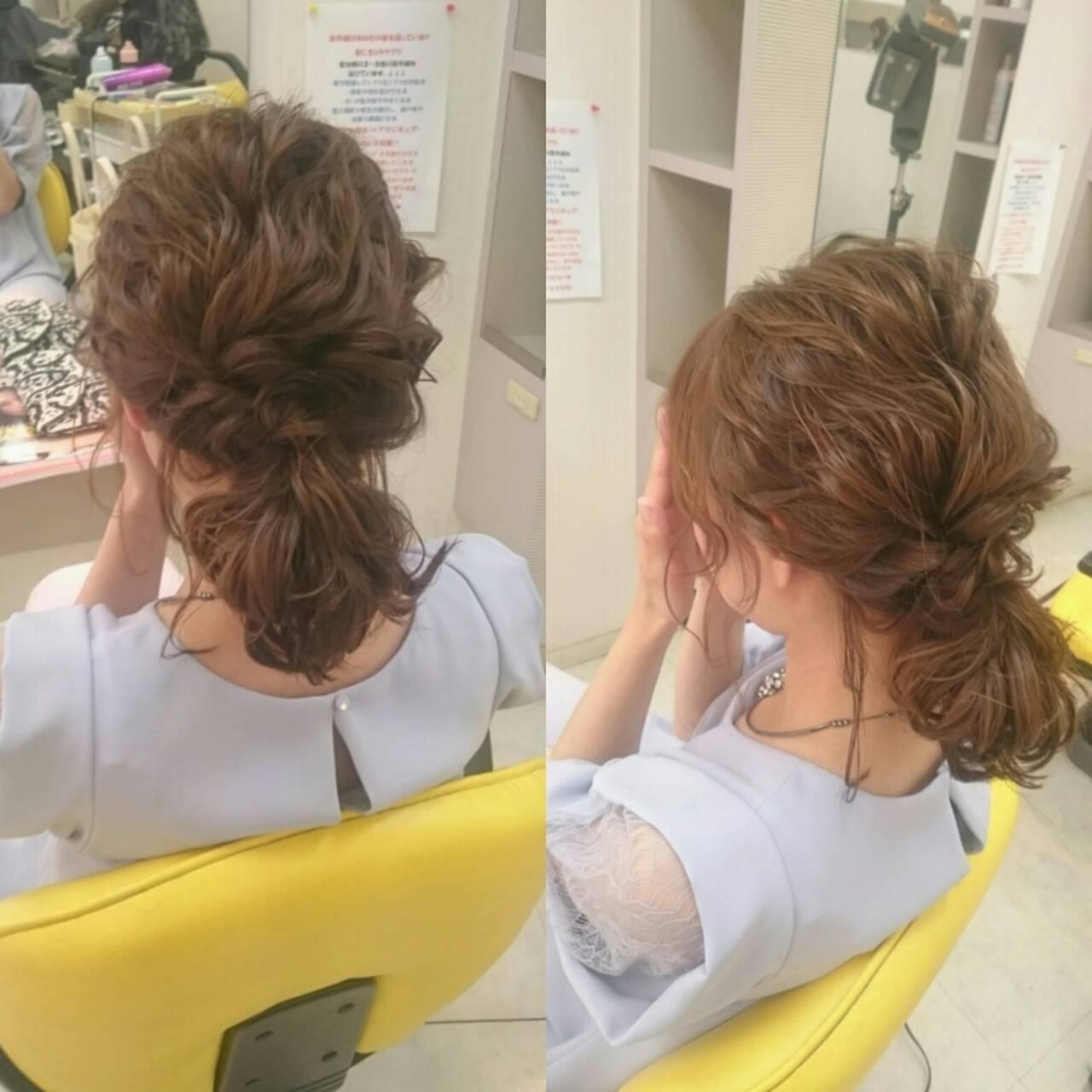 エレガント ミディアム 上品 パーティヘアスタイルや髪型の写真・画像