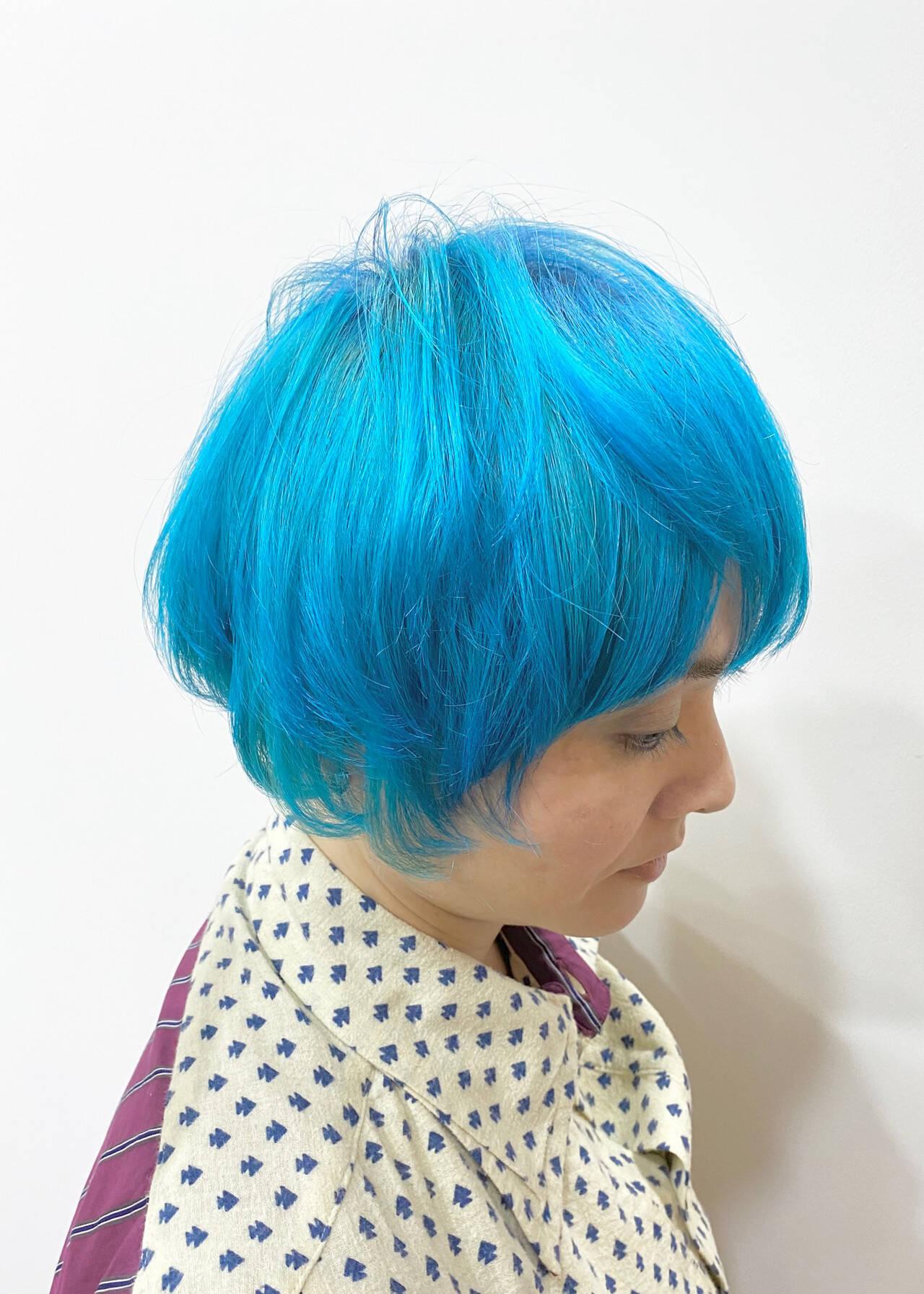 ハイトーンカラー ハイトーン 塩基性 派手髪ヘアスタイルや髪型の写真・画像
