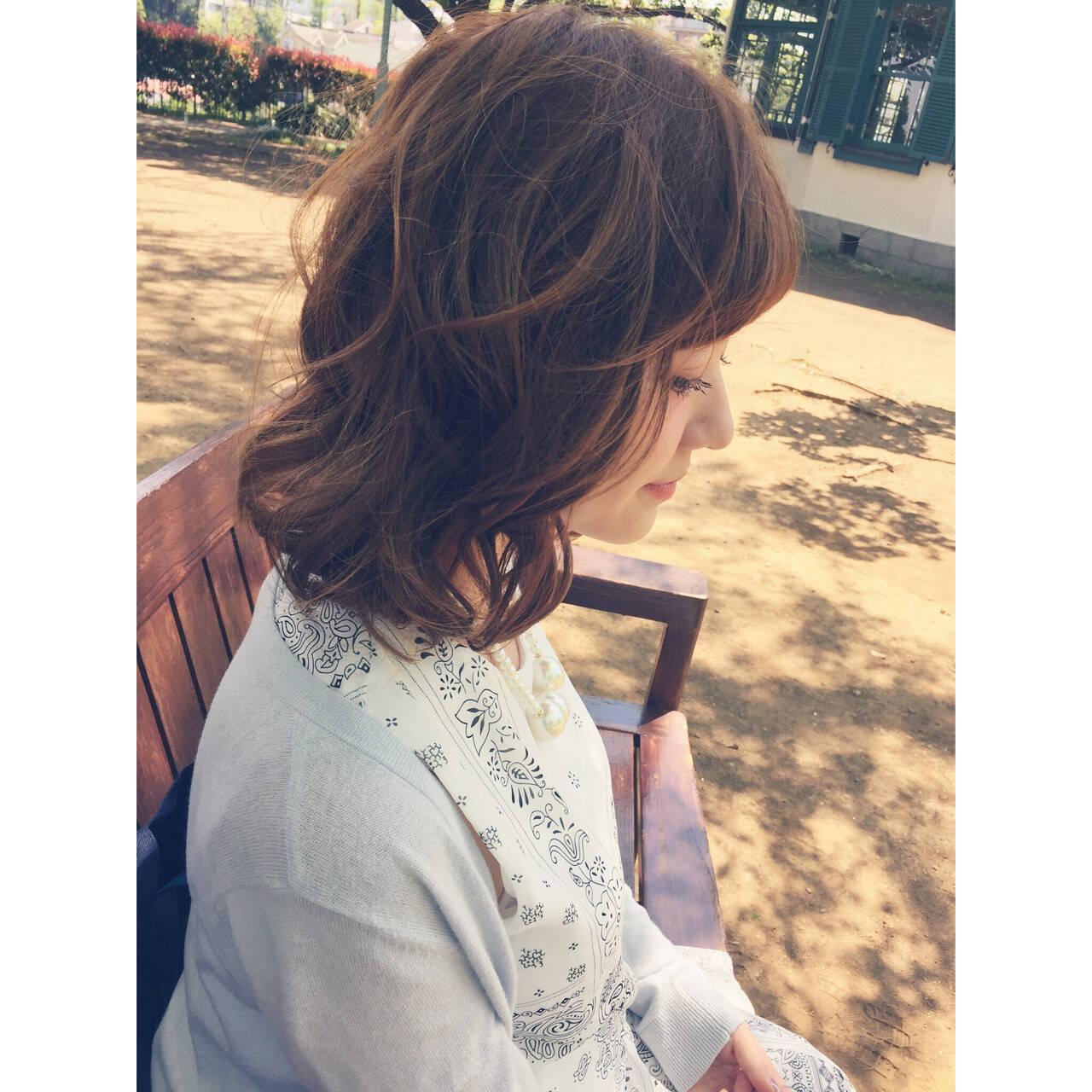 ナチュラル ショート レイヤーカット ブラウンヘアスタイルや髪型の写真・画像