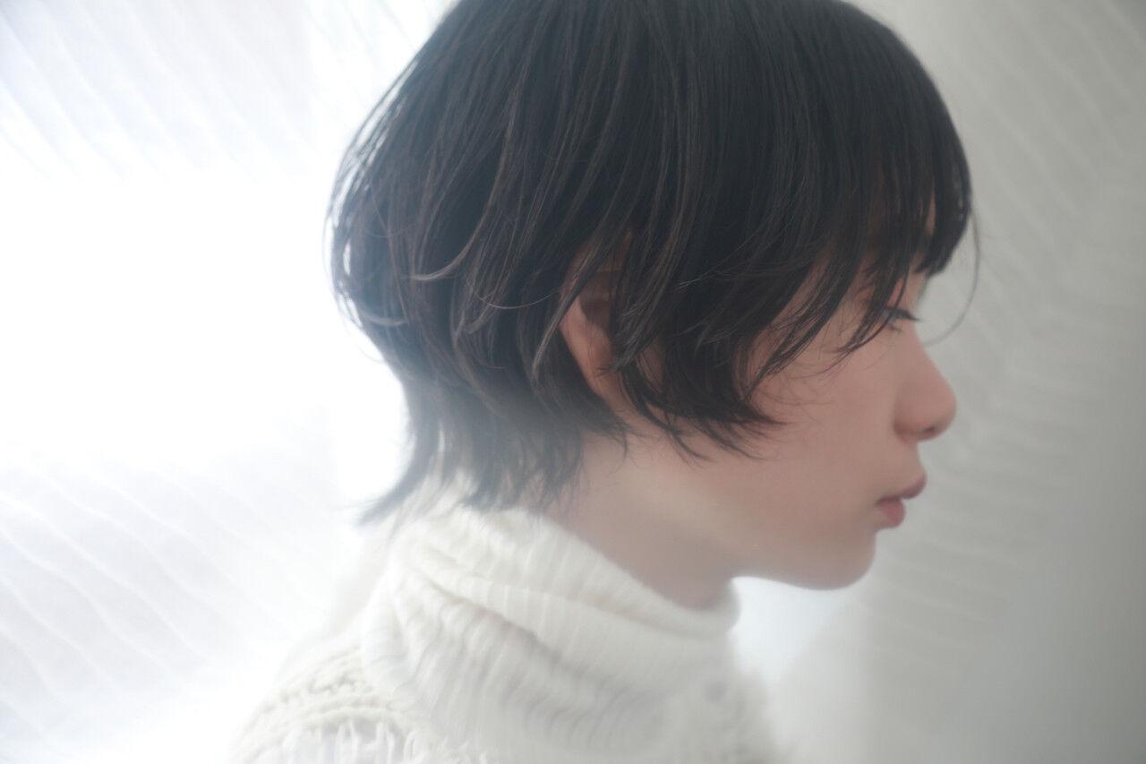 マッシュウルフ ウルフカット ショートボブ デートヘアスタイルや髪型の写真・画像
