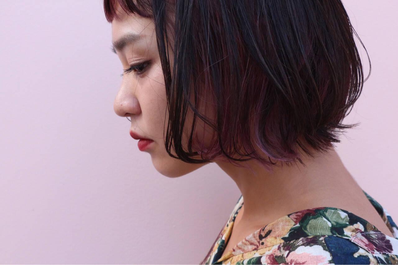 大人かわいい インナーカラー グラデーションカラー ストリートヘアスタイルや髪型の写真・画像
