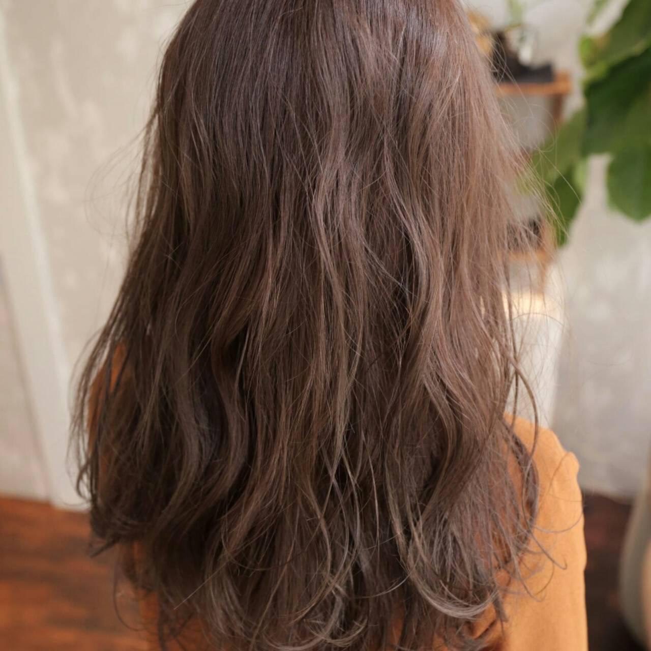 ゆるふわ 外国人風 大人かわいい セミロングヘアスタイルや髪型の写真・画像