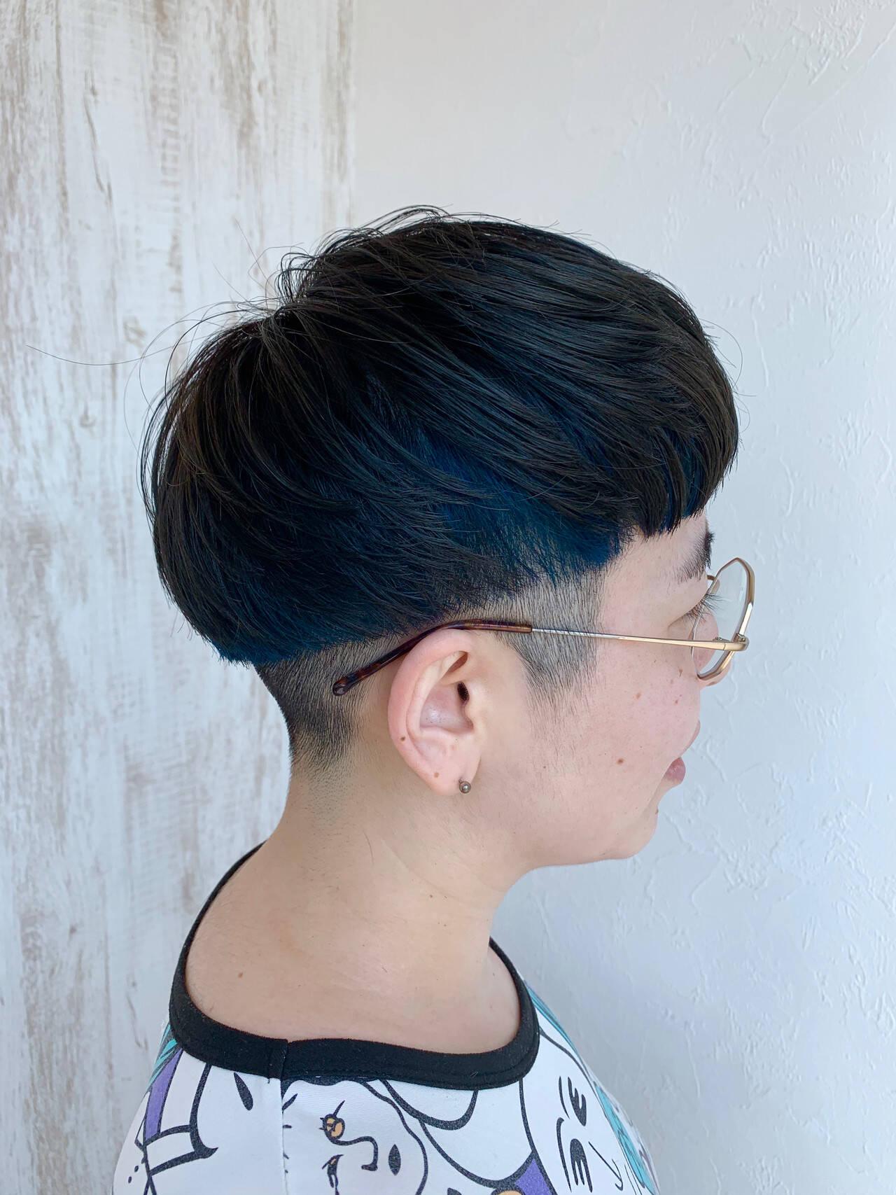 #インナーカラー ベリーショート ストリート N.オイルヘアスタイルや髪型の写真・画像