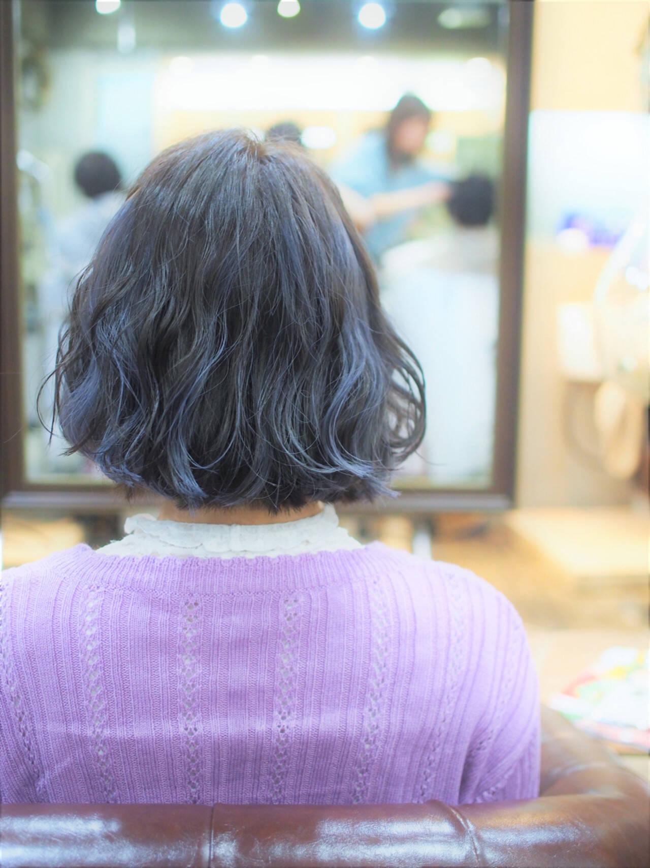 ストリート ボブ メッシュヘアスタイルや髪型の写真・画像