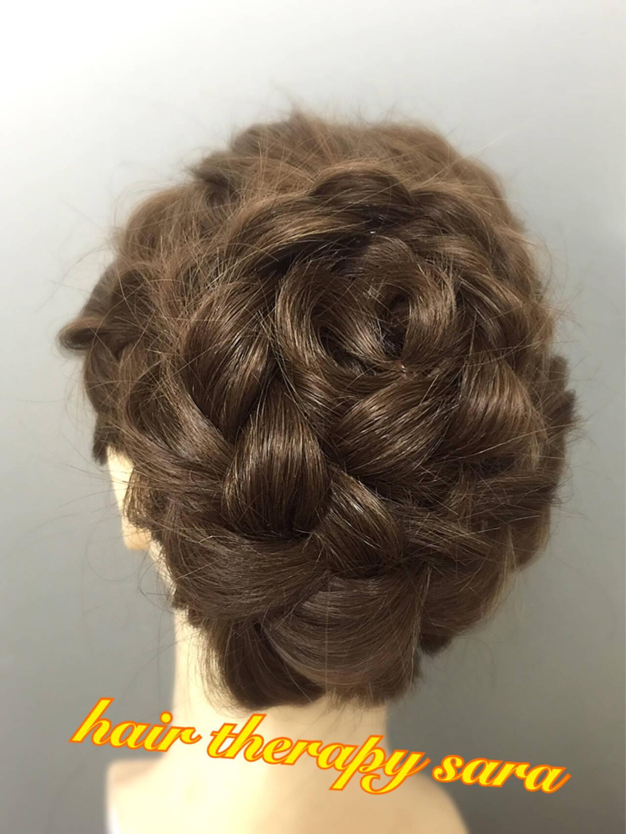 ヘアアレンジ アップスタイル 編み込み 和装ヘアスタイルや髪型の写真・画像