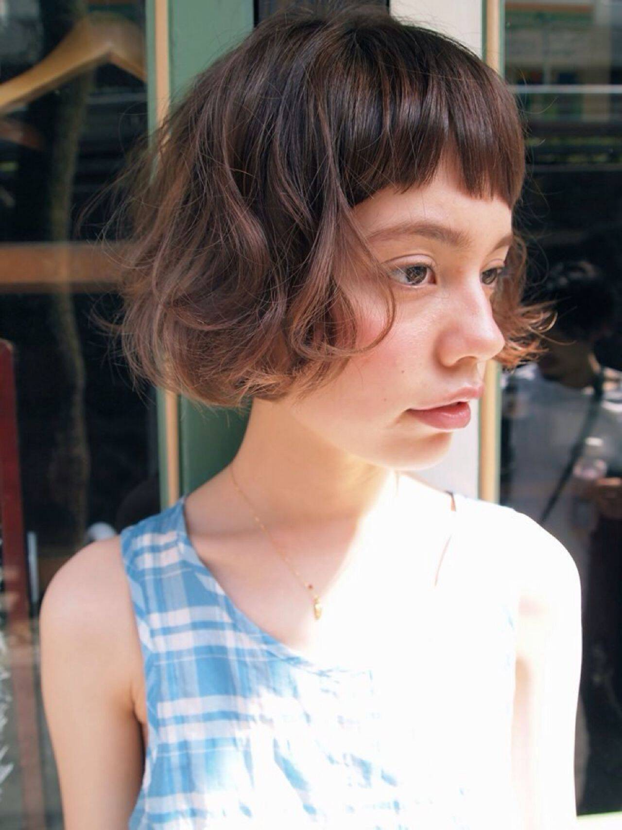 ゆるふわ ショート 外国人風 ナチュラルヘアスタイルや髪型の写真・画像