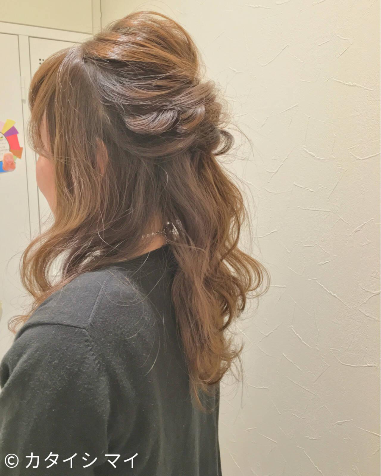 くるりんぱ ヘアアレンジ ショート ロングヘアスタイルや髪型の写真・画像
