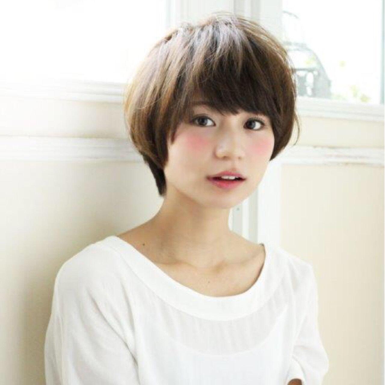 ラフ キュート ナチュラル ショートヘアスタイルや髪型の写真・画像