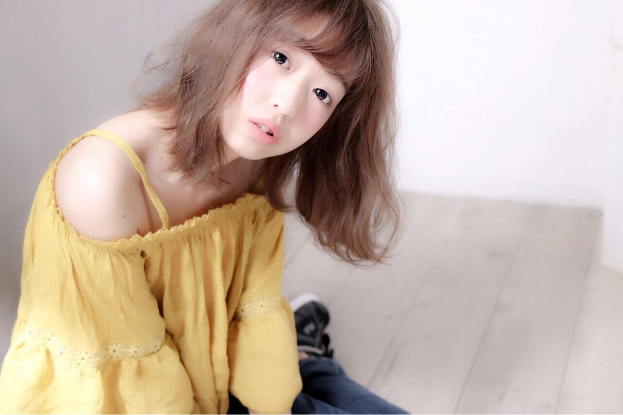 デート 前髪あり 涼しげ ゆるふわヘアスタイルや髪型の写真・画像