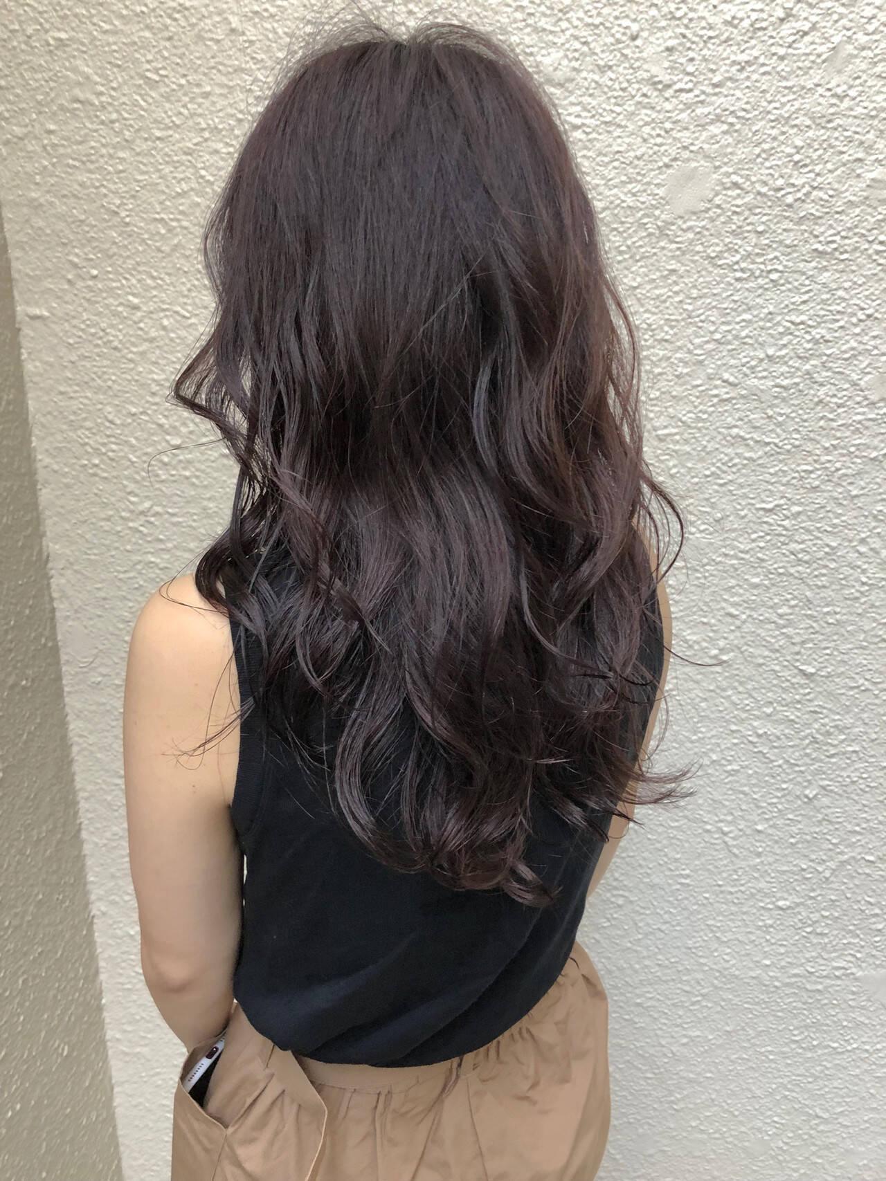 アディクシーカラー ハイライト セミロング ヘアアレンジヘアスタイルや髪型の写真・画像