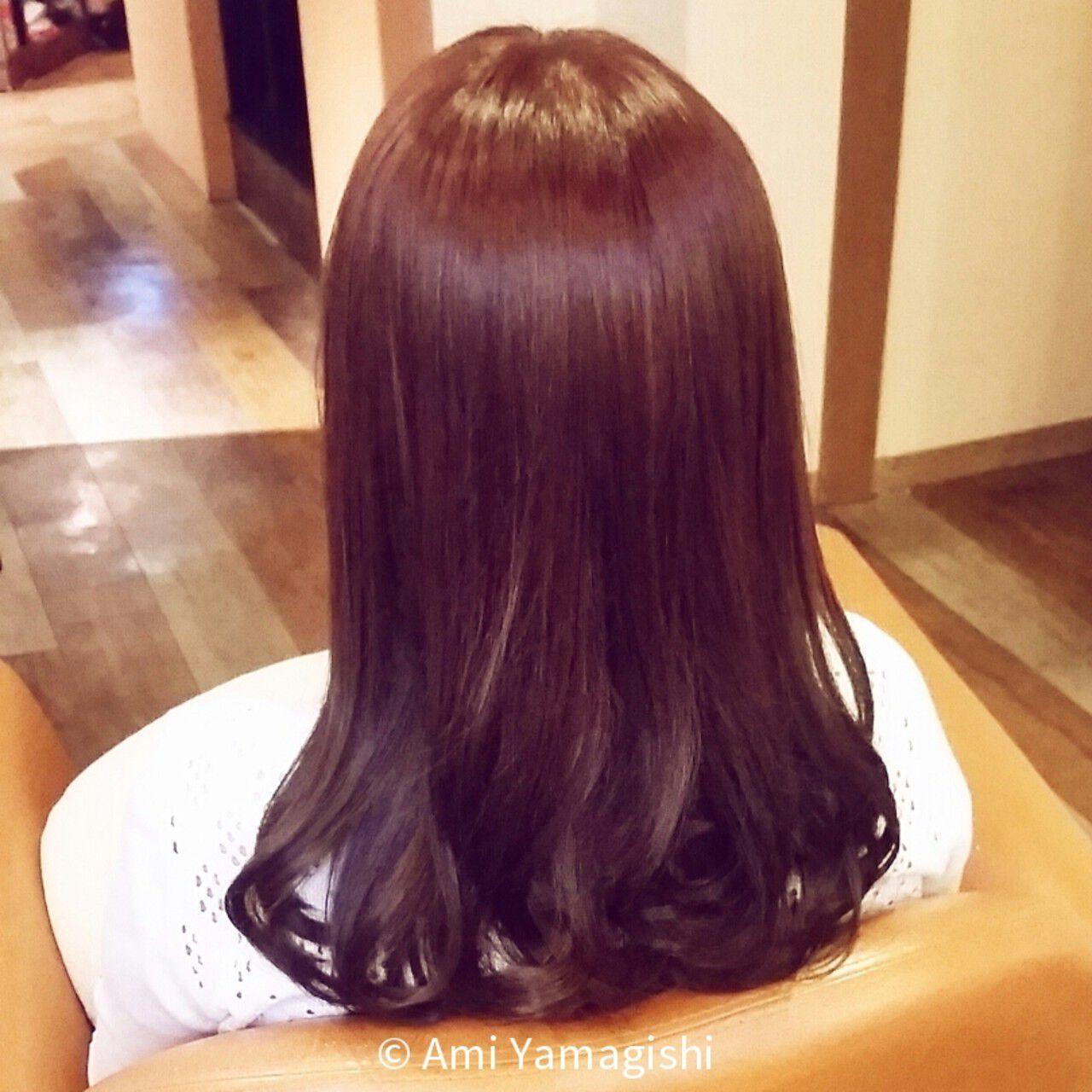 ガーリー 大人かわいい フェミニン セミロングヘアスタイルや髪型の写真・画像