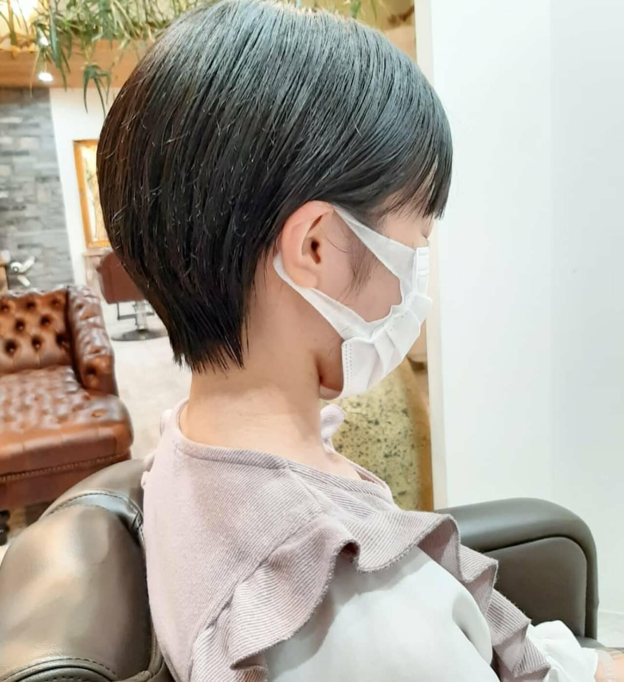 ショートヘア フェミニン ベリーショート ショートボブヘアスタイルや髪型の写真・画像