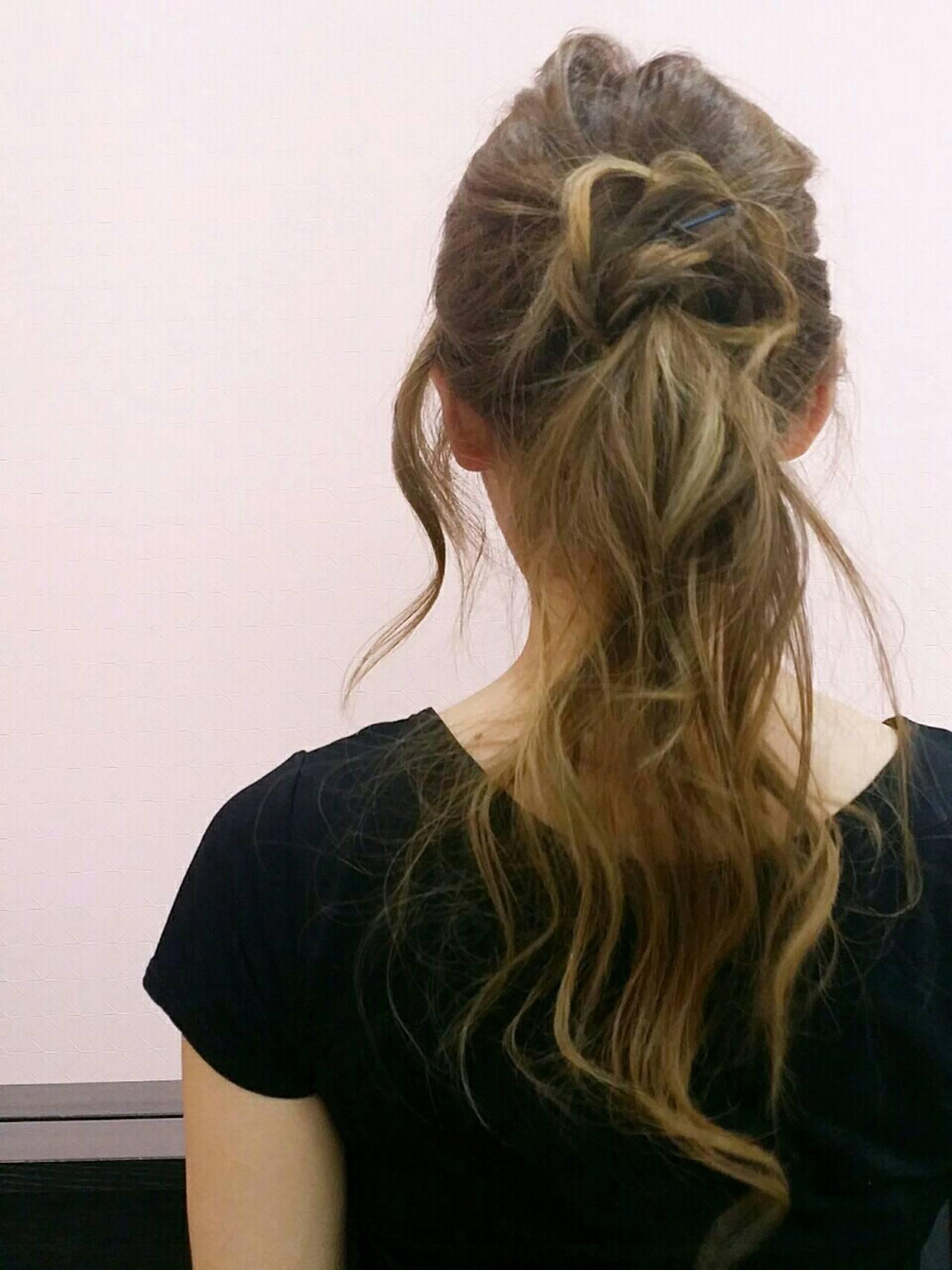 大人かわいい ロング 簡単ヘアアレンジ ヘアアレンジヘアスタイルや髪型の写真・画像