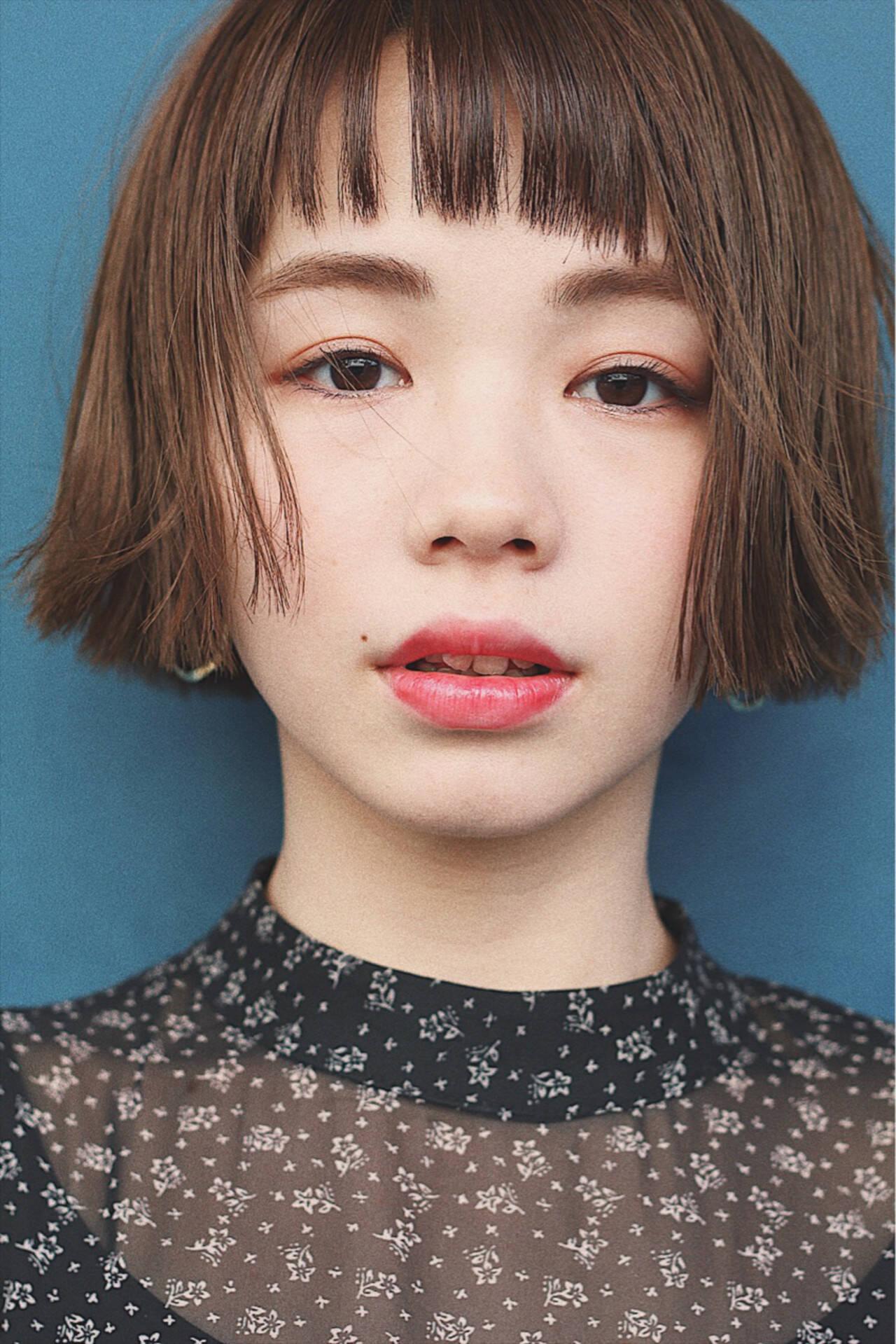 春 切りっぱなし アンニュイ ゆるふわヘアスタイルや髪型の写真・画像