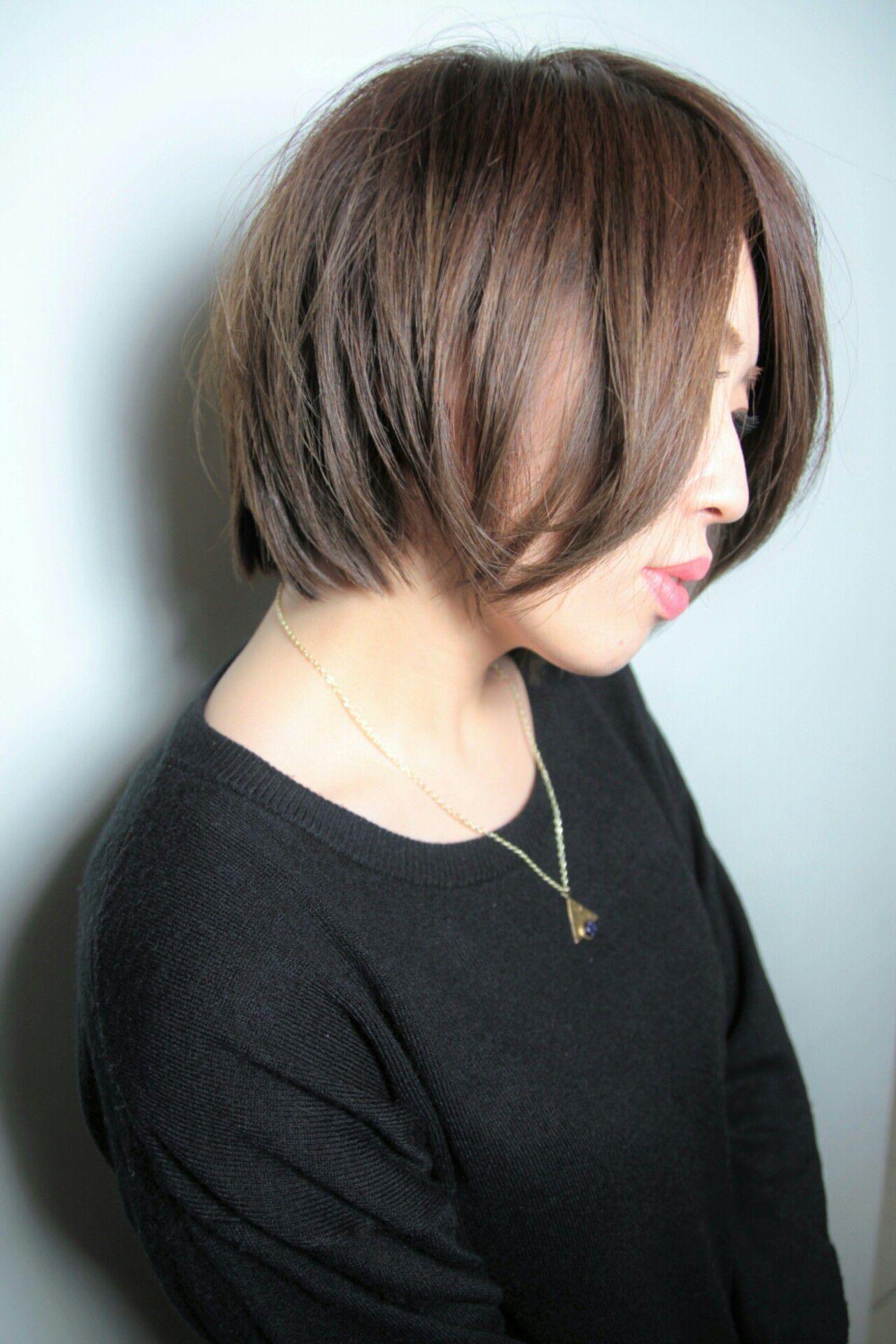 ショート フェミニン ボブ 大人かわいいヘアスタイルや髪型の写真・画像