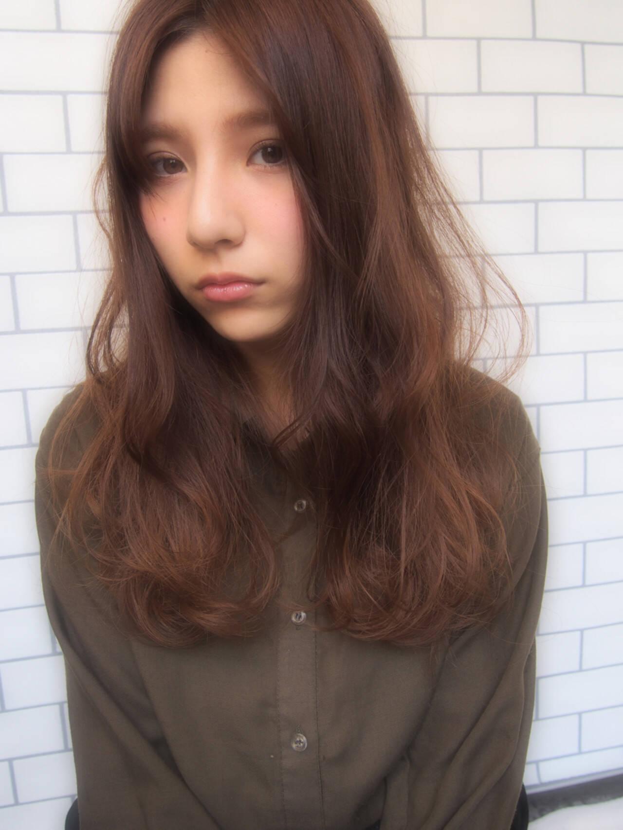 ロング アッシュ グラデーションカラー パーマヘアスタイルや髪型の写真・画像