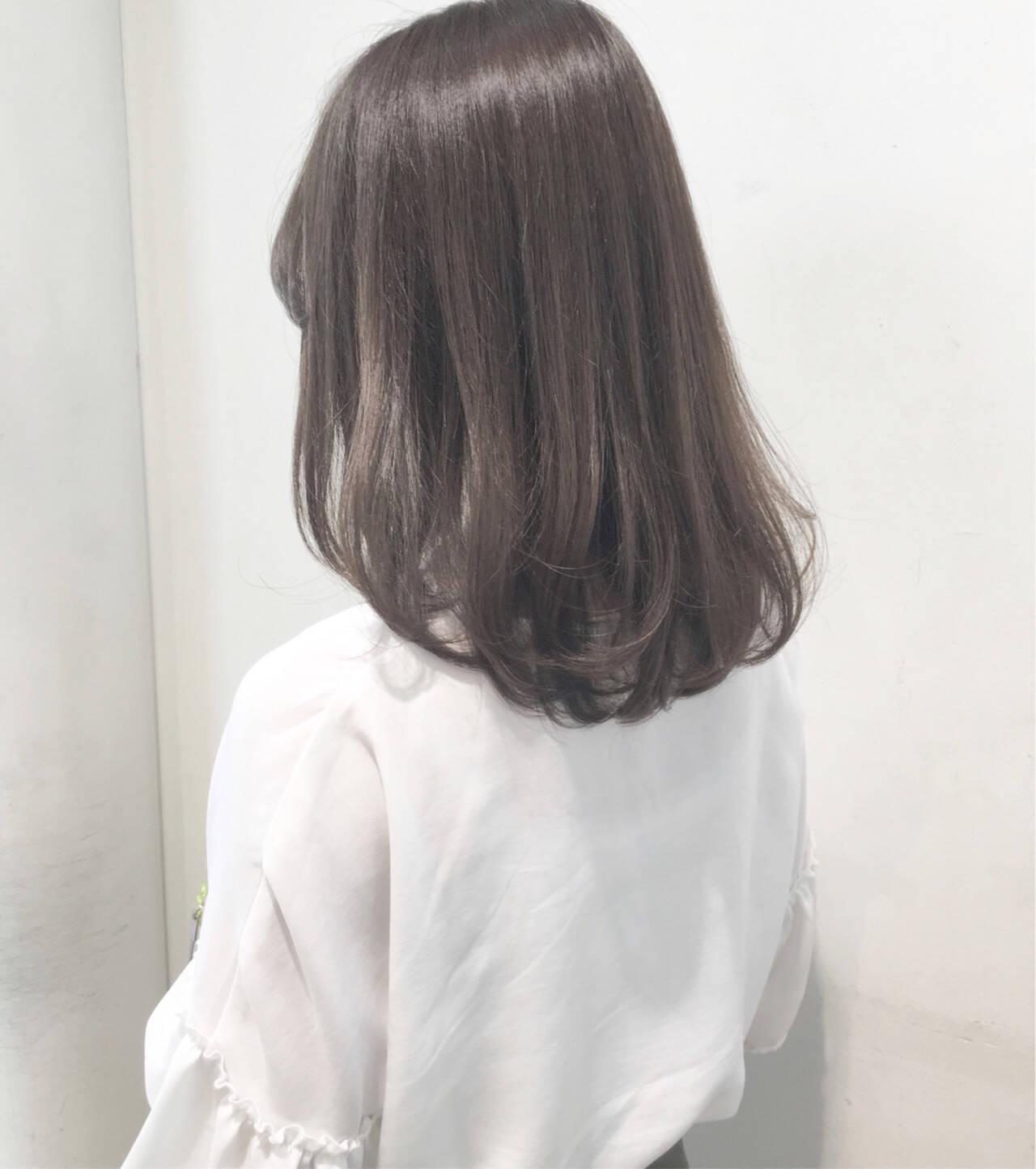 艶髪 セミロング 女子会 ナチュラルヘアスタイルや髪型の写真・画像