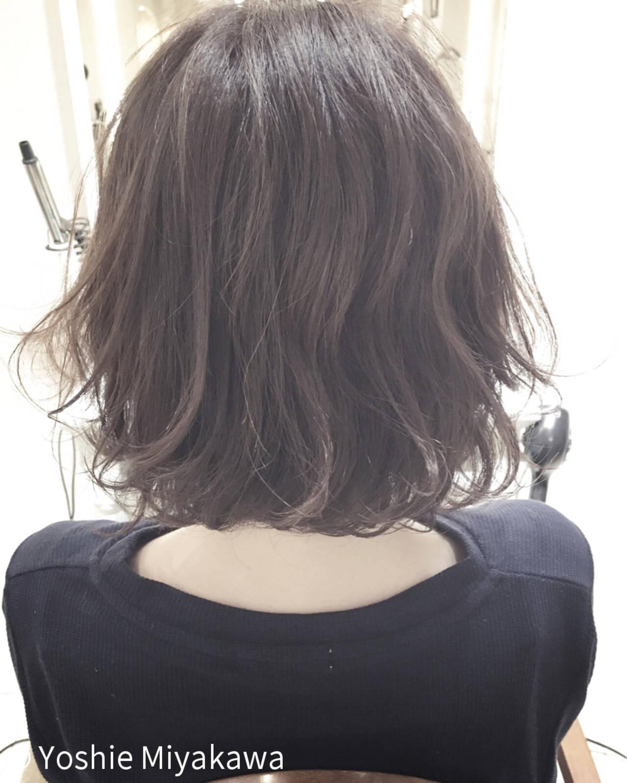 外国人風 リラックス ボブ デートヘアスタイルや髪型の写真・画像