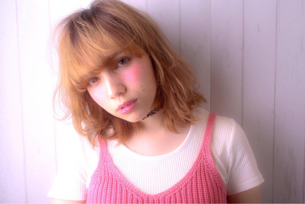 グラデーションカラー ガーリー 渋谷系 大人かわいいヘアスタイルや髪型の写真・画像