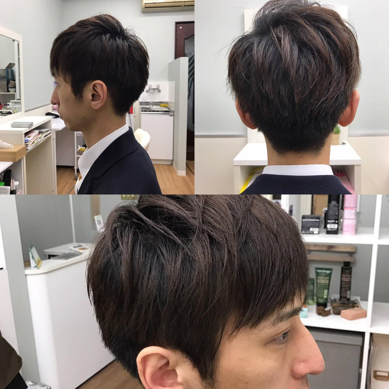 暗髪 コンサバ OL メンズヘアスタイルや髪型の写真・画像