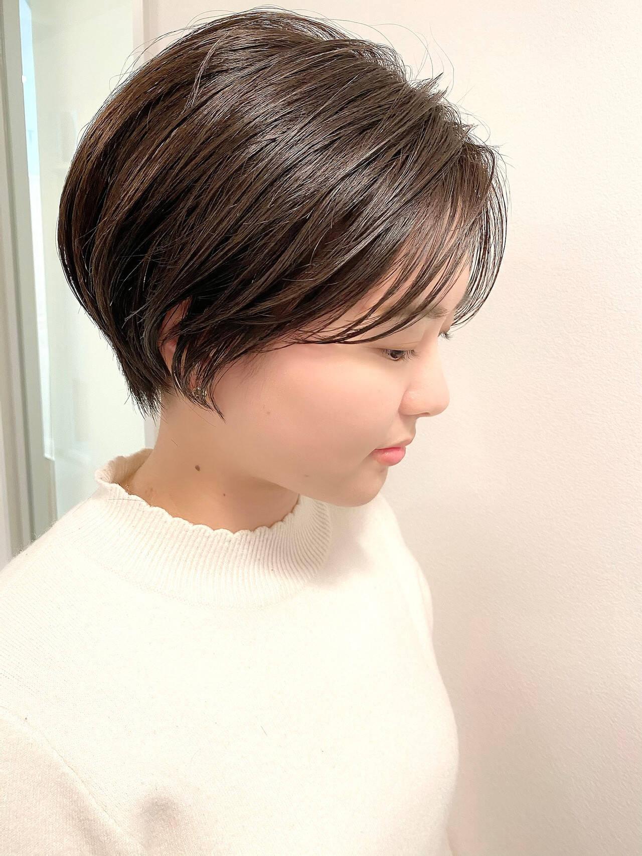 ベリーショート ゆるふわ デート ショートヘアスタイルや髪型の写真・画像