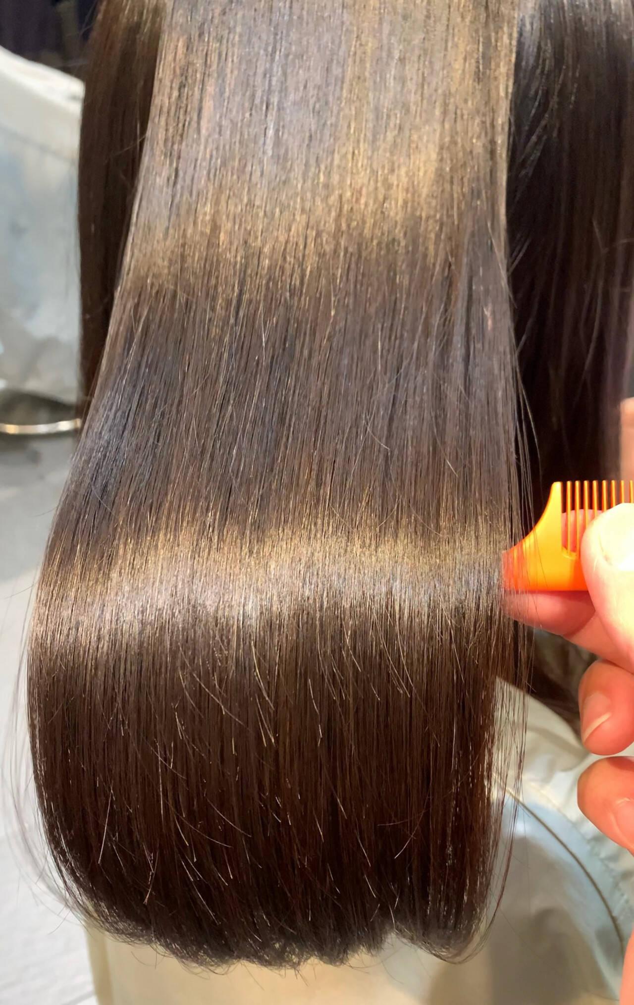ナチュラル トリートメント 最新トリートメント 髪質改善ヘアスタイルや髪型の写真・画像