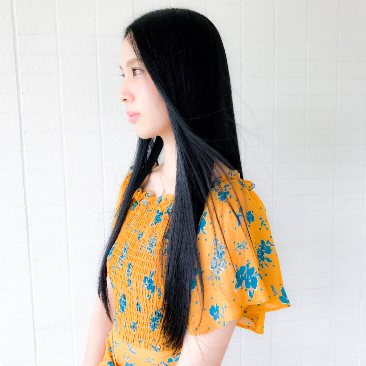 ナチュラル 黒髪 ロング 艶髪ヘアスタイルや髪型の写真・画像