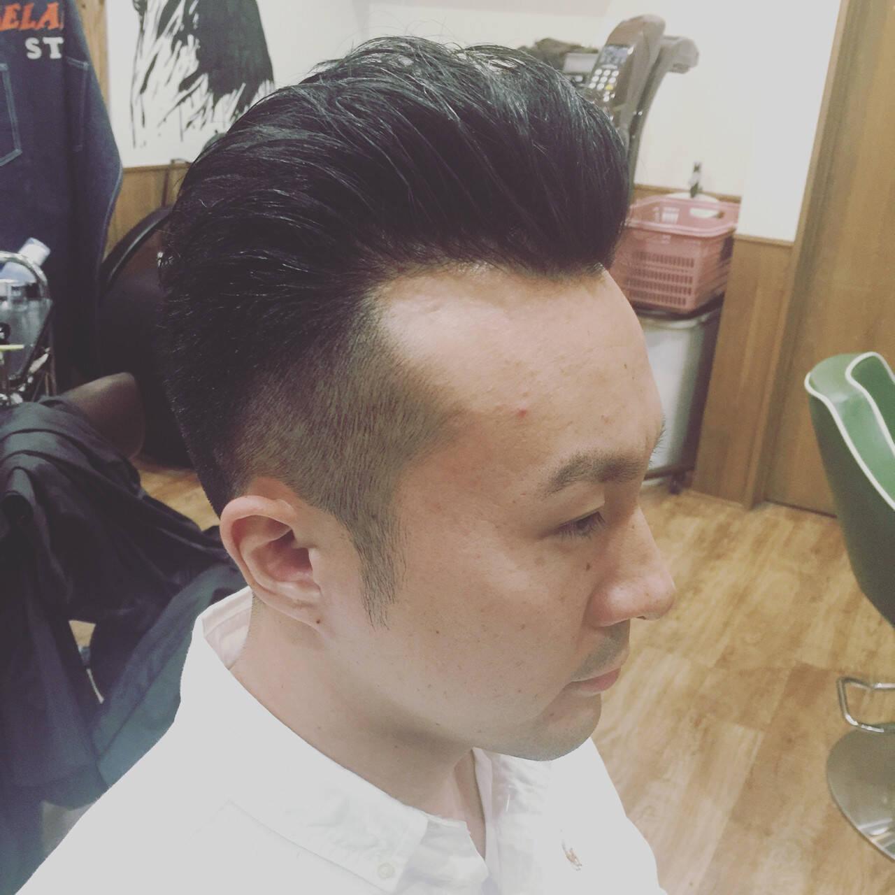 刈り上げ オールバック ボーイッシュ ショートヘアスタイルや髪型の写真・画像