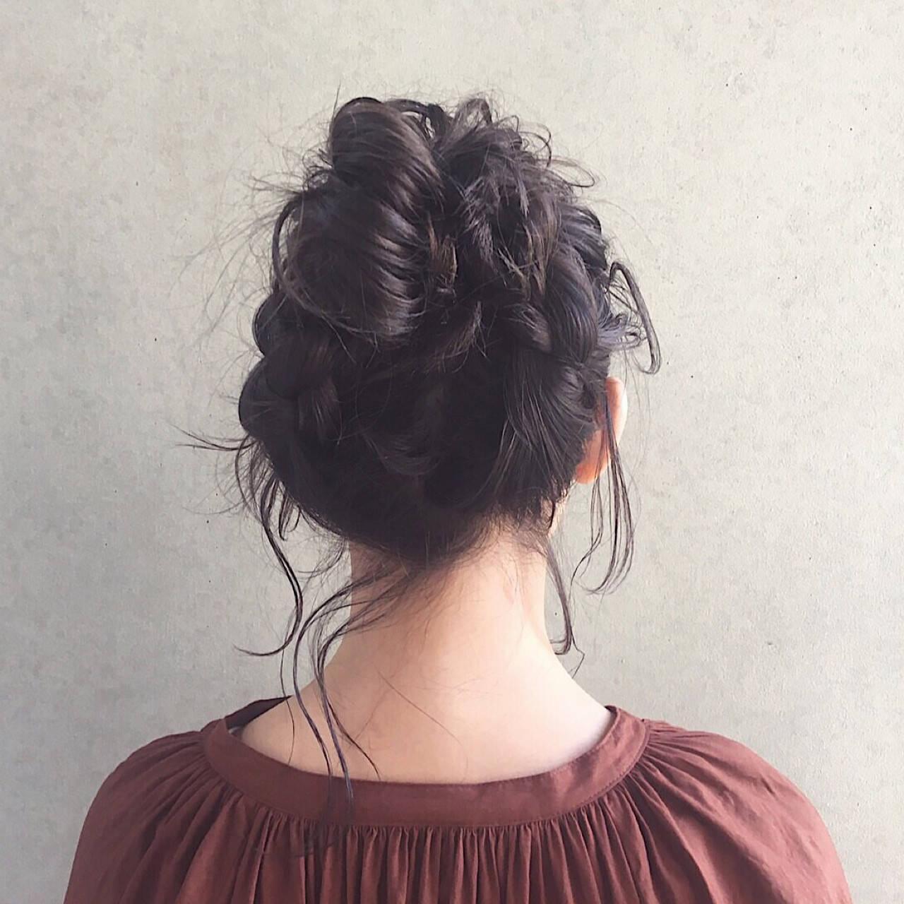 ヘアアレンジ ウェーブ アンニュイ デートヘアスタイルや髪型の写真・画像