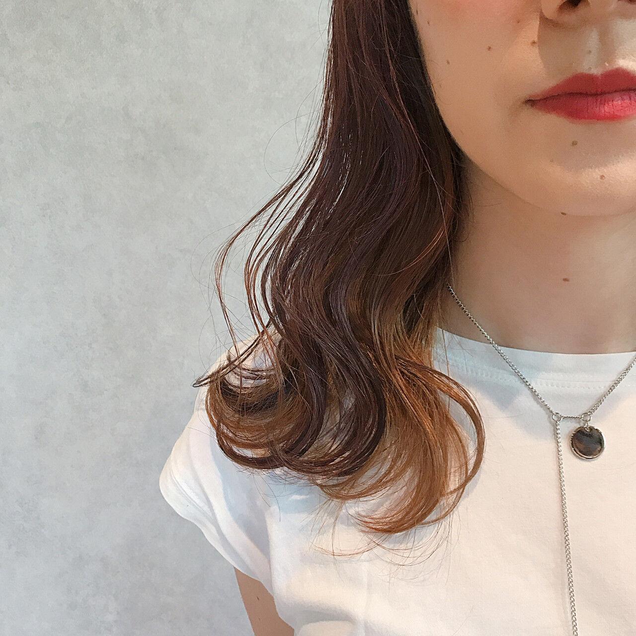 女子力 セミロング ヘアアレンジ ハイライトヘアスタイルや髪型の写真・画像
