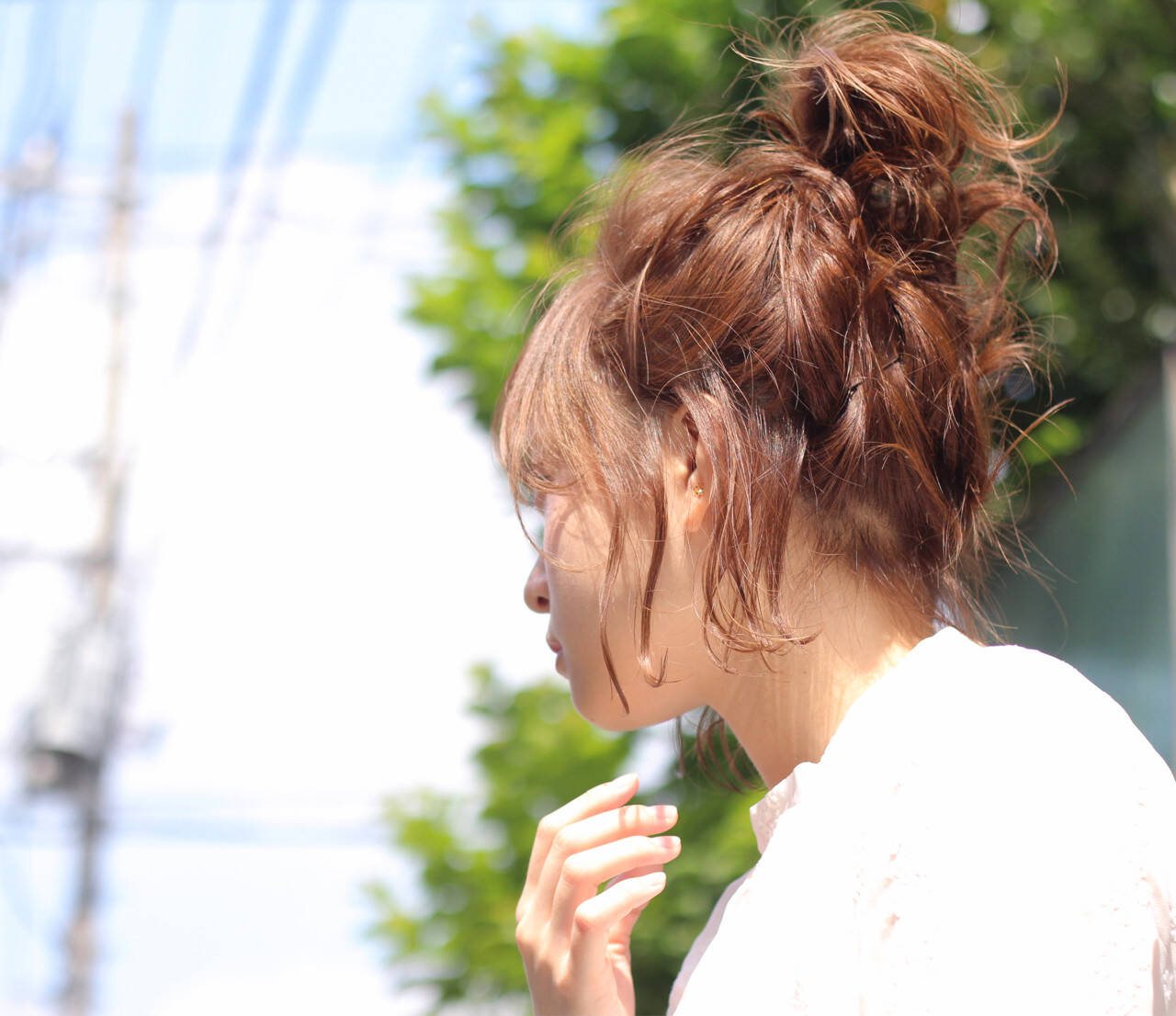 ヘアアレンジ 雨の日 デート ショートヘアスタイルや髪型の写真・画像