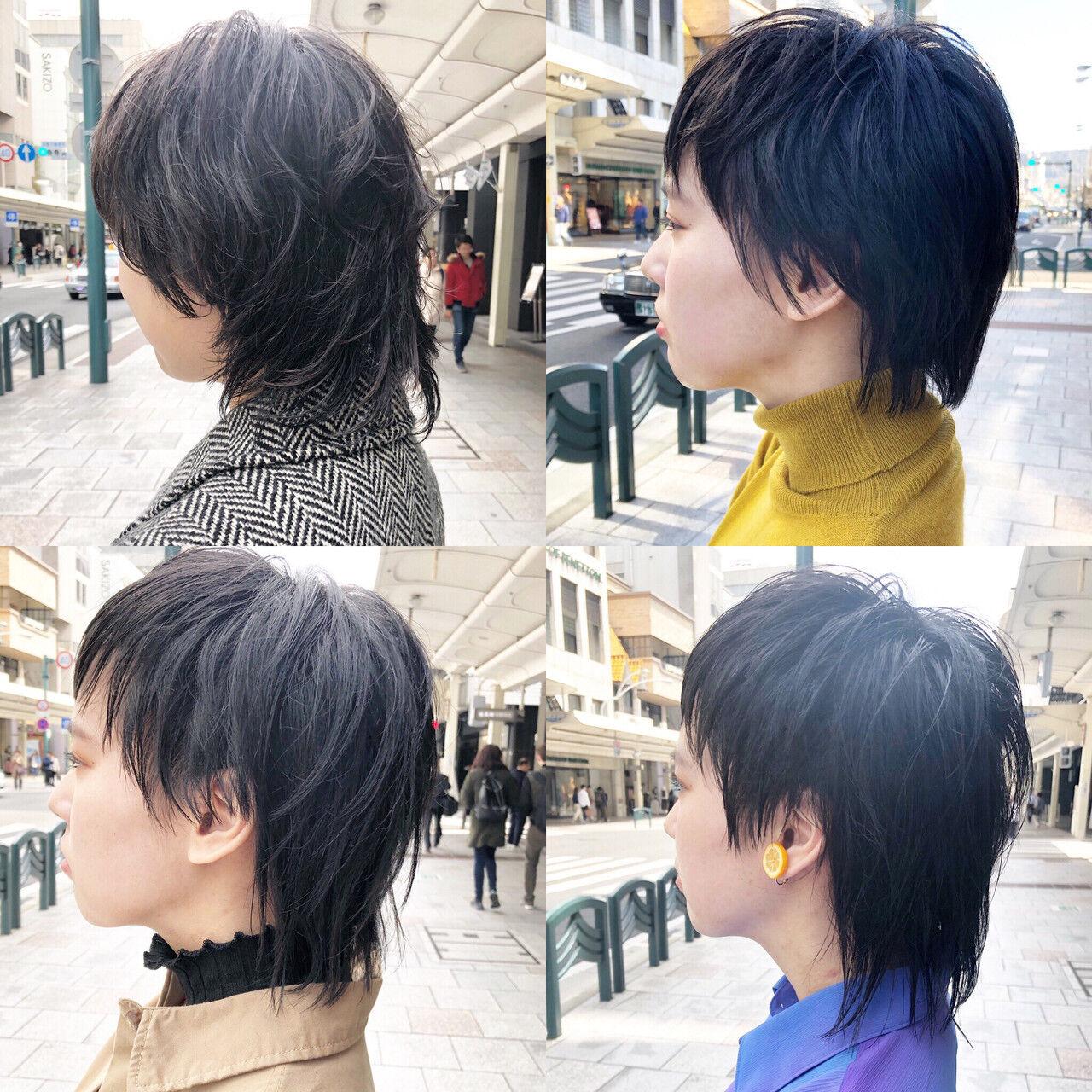 ネオウルフ ショート ウルフ ストリートヘアスタイルや髪型の写真・画像