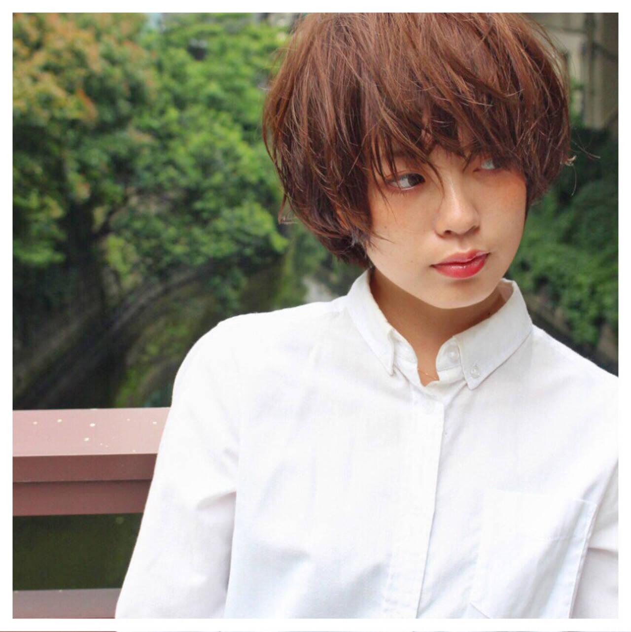 外国人風 ナチュラル ショート 大人かわいいヘアスタイルや髪型の写真・画像