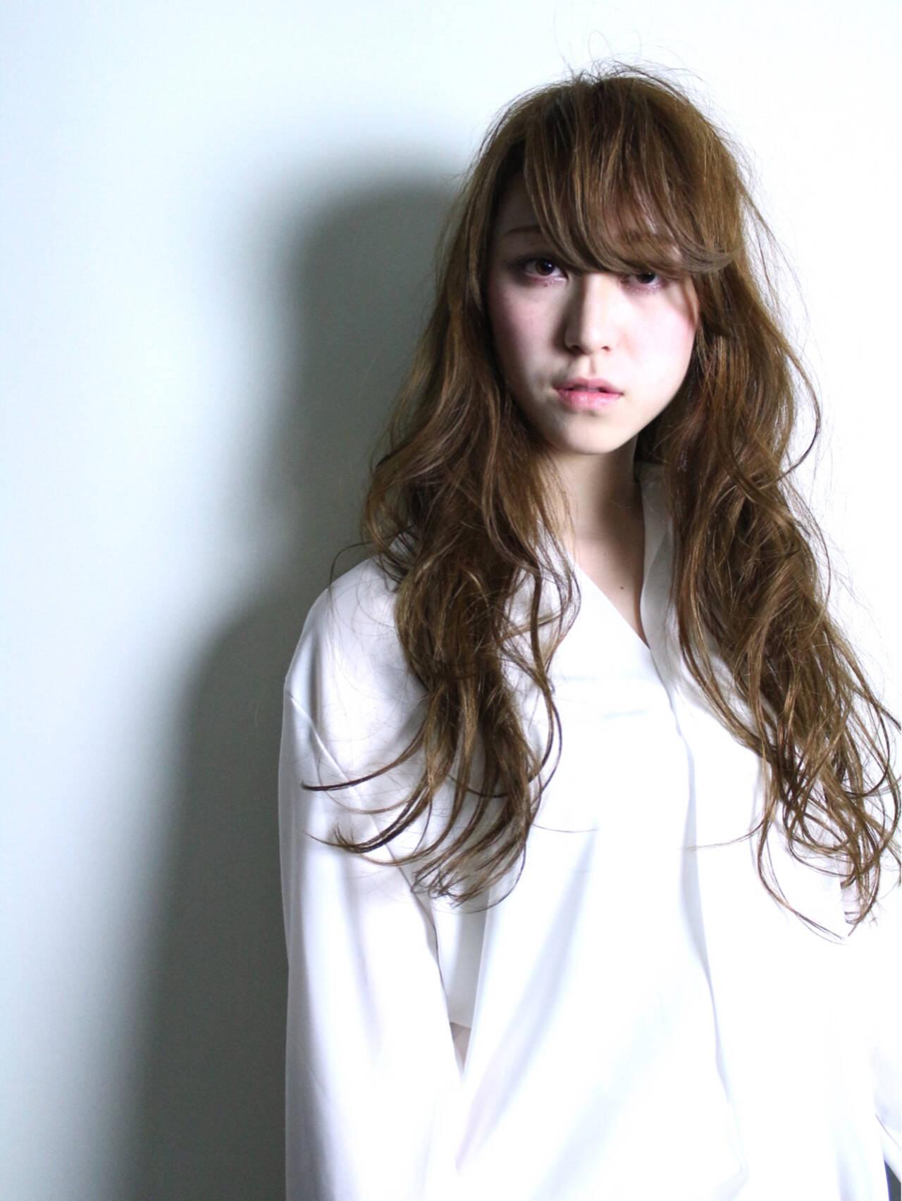 ブラウン 外国人風 大人かわいい ナチュラルヘアスタイルや髪型の写真・画像