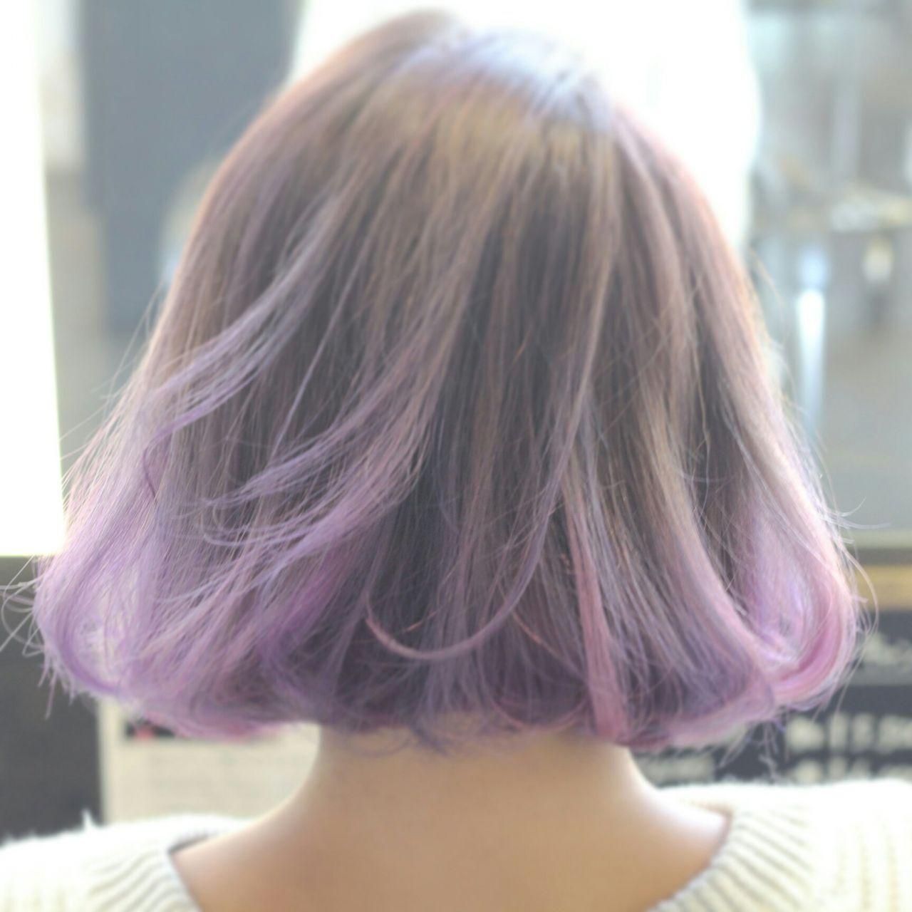 グラデーションカラー モード ロング アップスタイルヘアスタイルや髪型の写真・画像