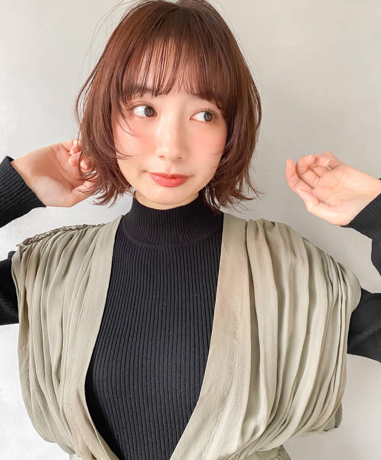 ショートボブ 韓国ヘア ミニボブ ヘアアレンジヘアスタイルや髪型の写真・画像