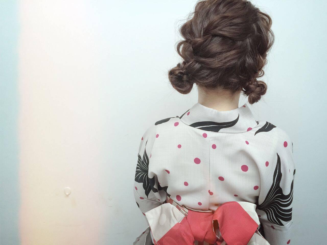 ヘアアレンジ 愛され モテ髪 和装ヘアスタイルや髪型の写真・画像
