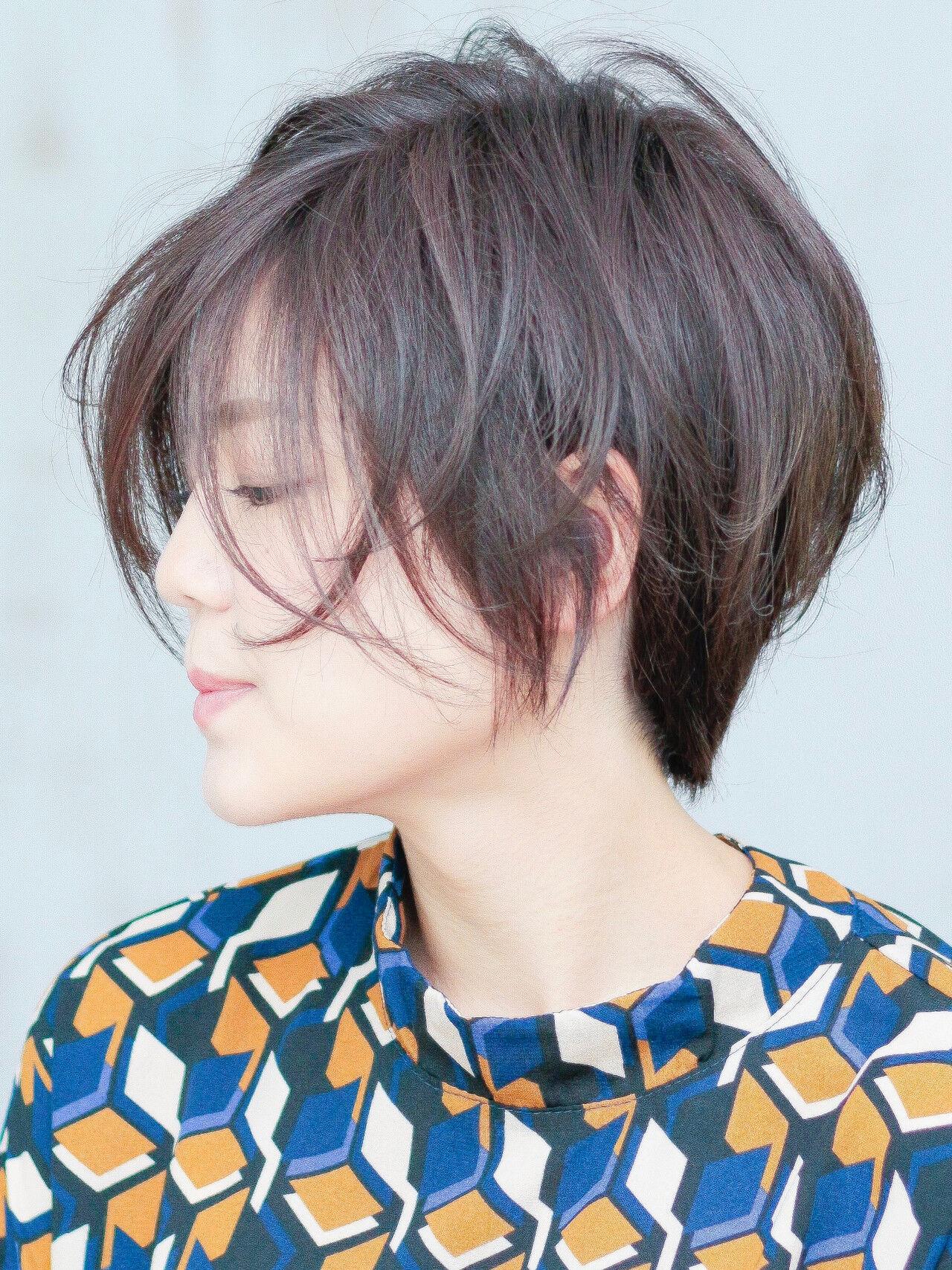 クール 小顔ショート ベリーショート ハンサムショートヘアスタイルや髪型の写真・画像