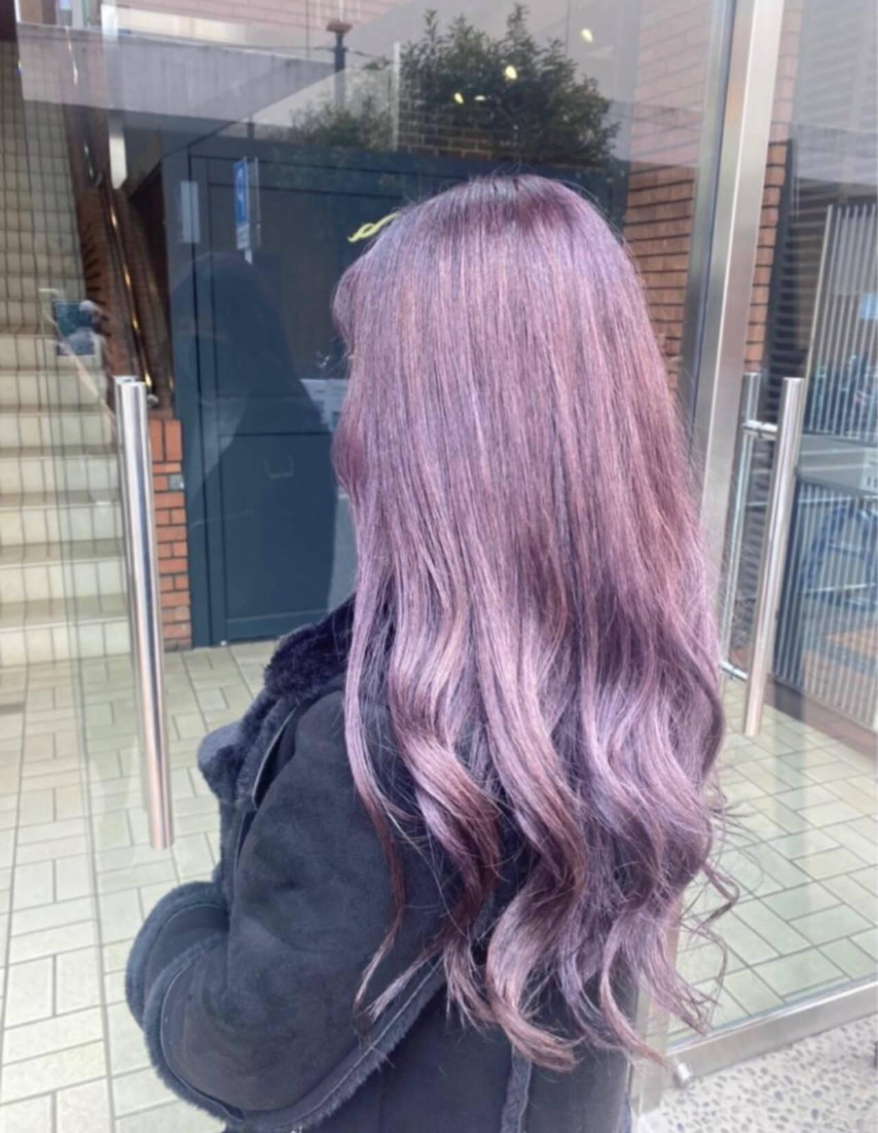 パープル ラベンダー ラベンダーピンク エレガントヘアスタイルや髪型の写真・画像
