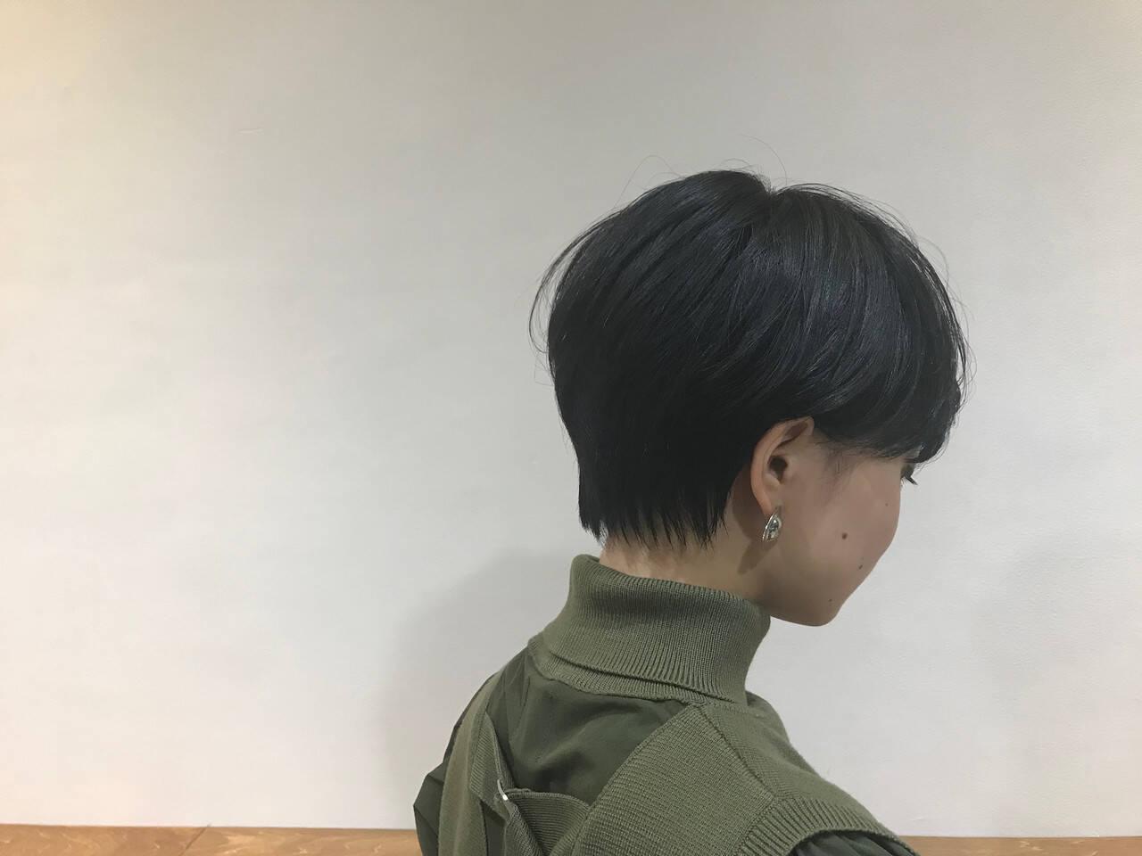 N.オイル 黒髪ショート ショート モードヘアスタイルや髪型の写真・画像