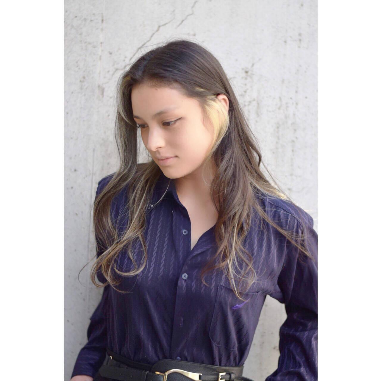 アッシュ グレージュ 外国人風カラー ロングヘアスタイルや髪型の写真・画像