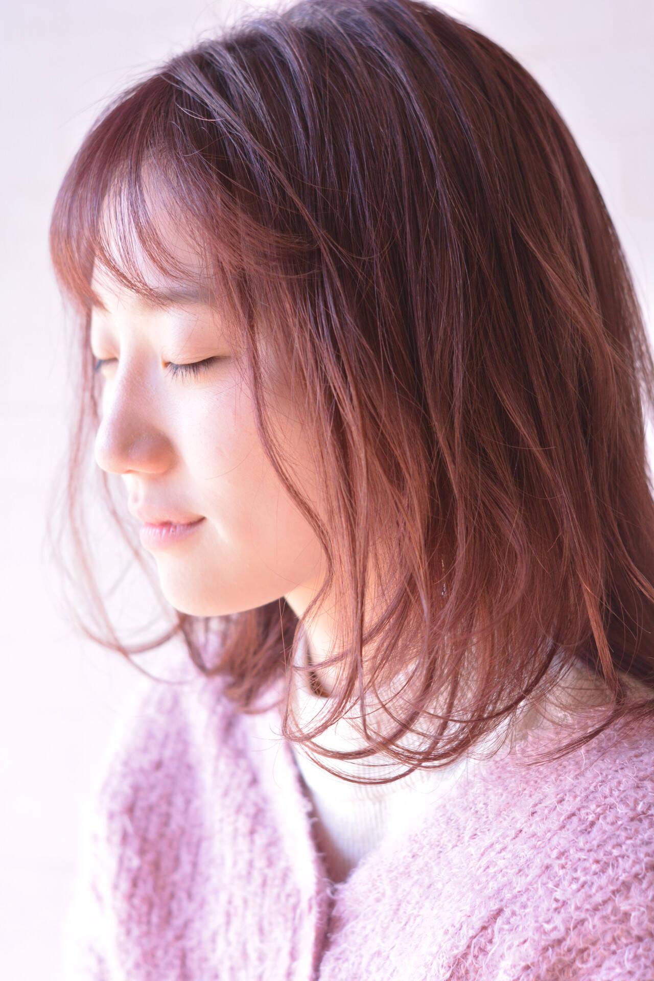 髪質改善 フェミニン デート 髪質改善カラーヘアスタイルや髪型の写真・画像