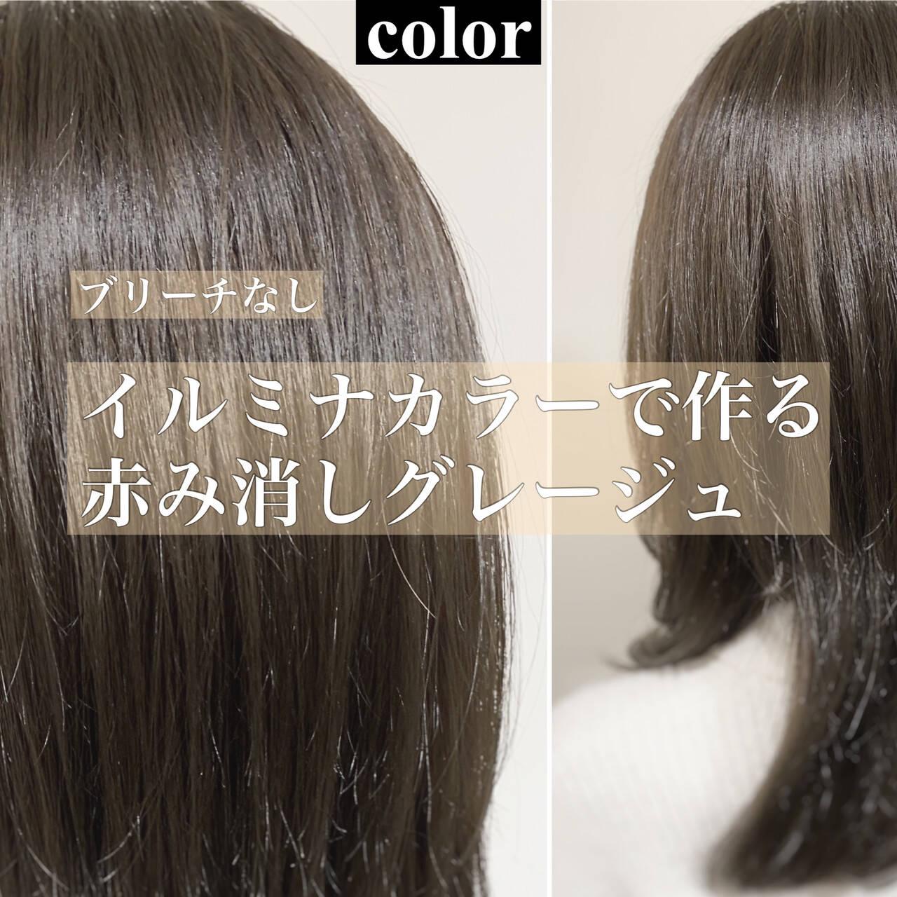 ナチュラル グレージュ 透明感カラー 外国人風カラーヘアスタイルや髪型の写真・画像