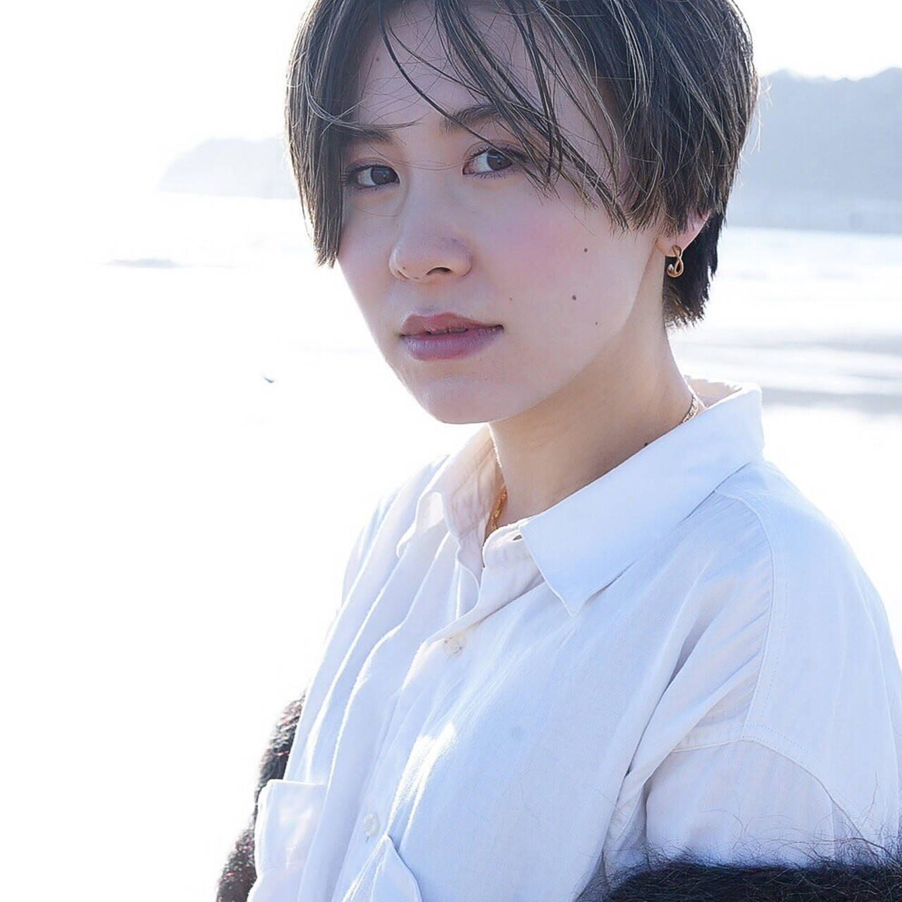 外国人風 ショート 大人ハイライト ショートヘアヘアスタイルや髪型の写真・画像