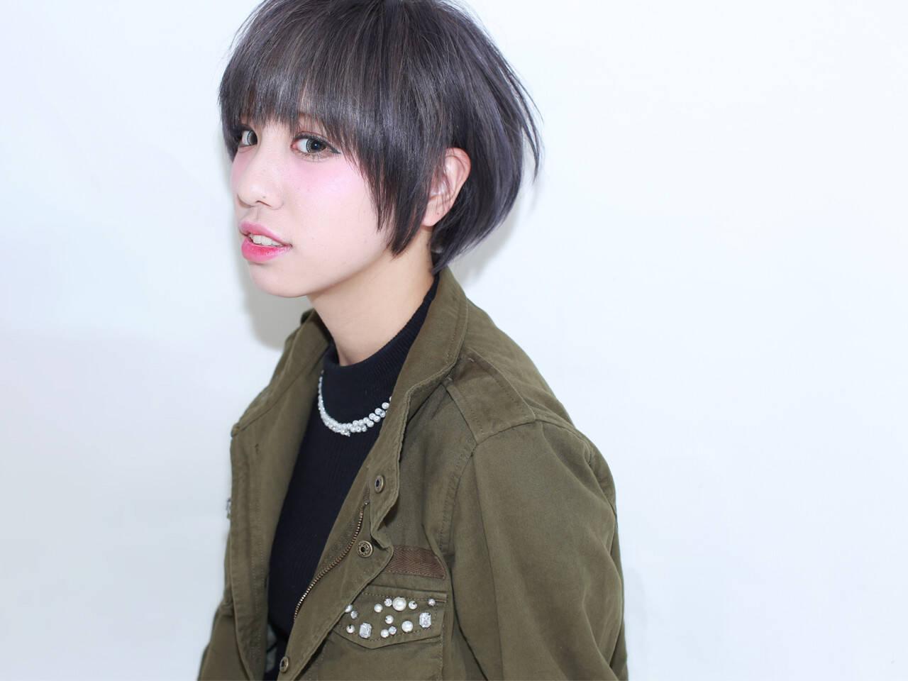 外国人風 グレージュ ショートボブ ショートヘアスタイルや髪型の写真・画像