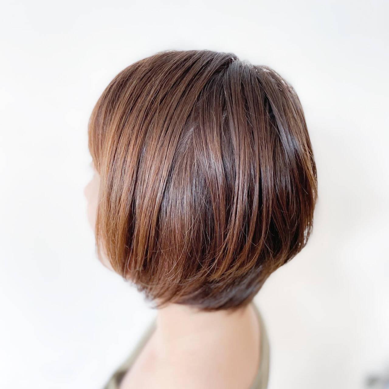 切りっぱなしボブ ボブ ショートヘア ベリーショートヘアスタイルや髪型の写真・画像