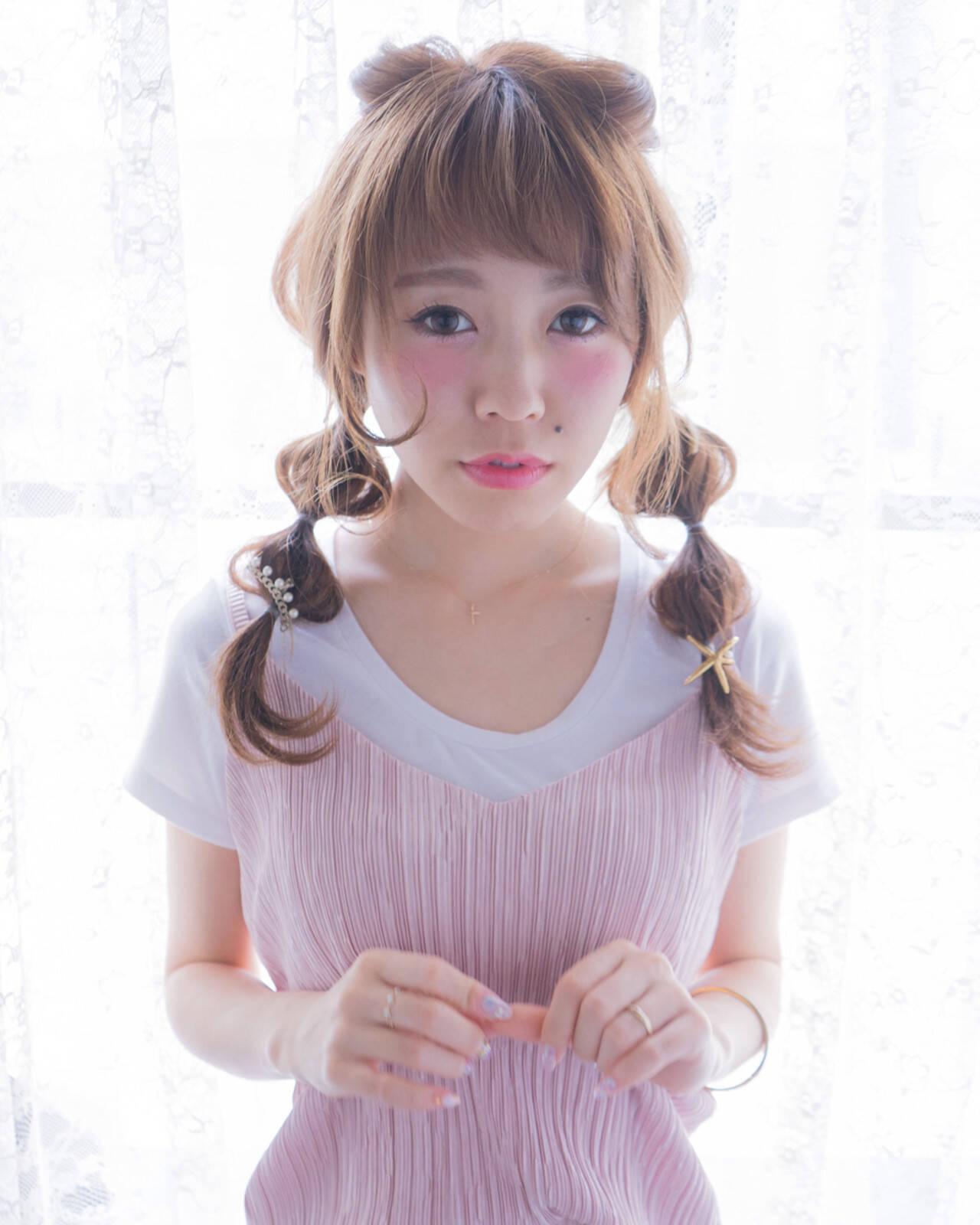 ヘアアレンジ ショート セミロング 大人かわいいヘアスタイルや髪型の写真・画像