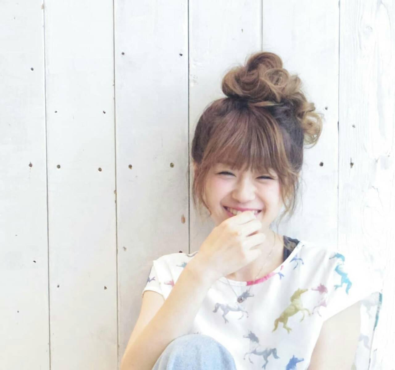 お団子 簡単ヘアアレンジ ロング デートヘアスタイルや髪型の写真・画像