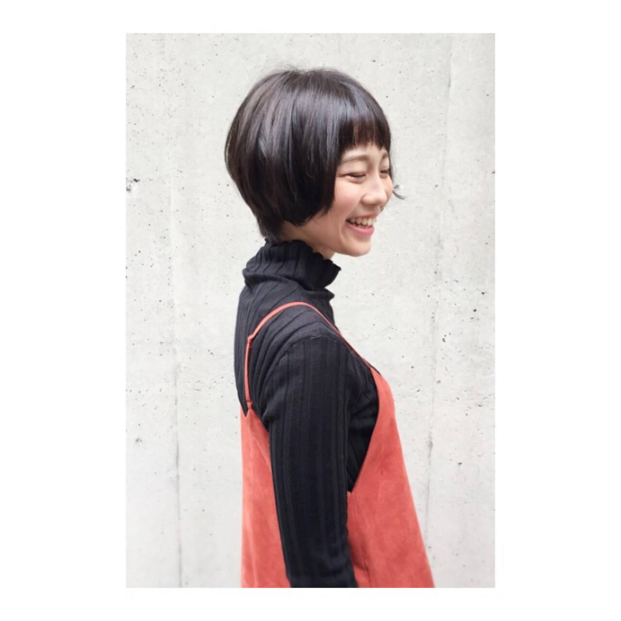 大人かわいい ショート ボブ ショートボブヘアスタイルや髪型の写真・画像